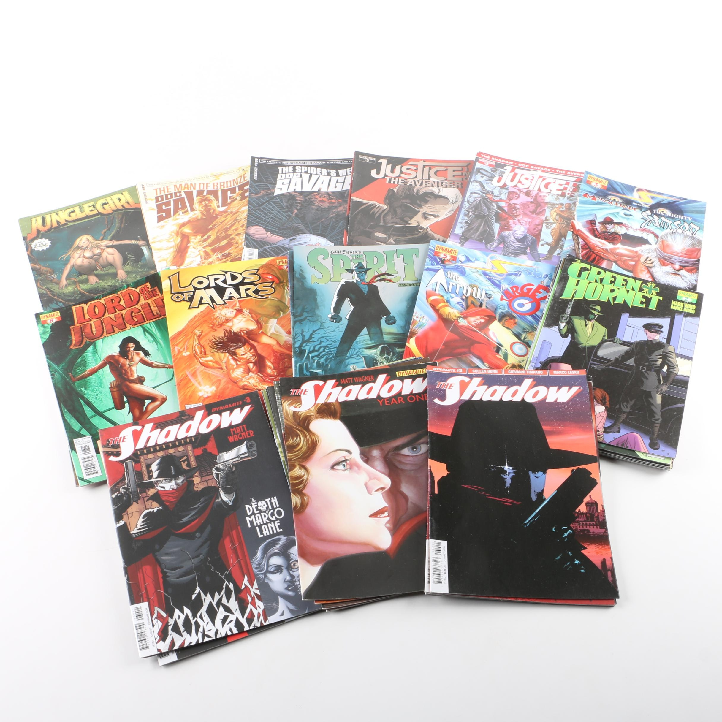 """Collection of Dynamite Comic Books Including """"The Green Hornet"""""""