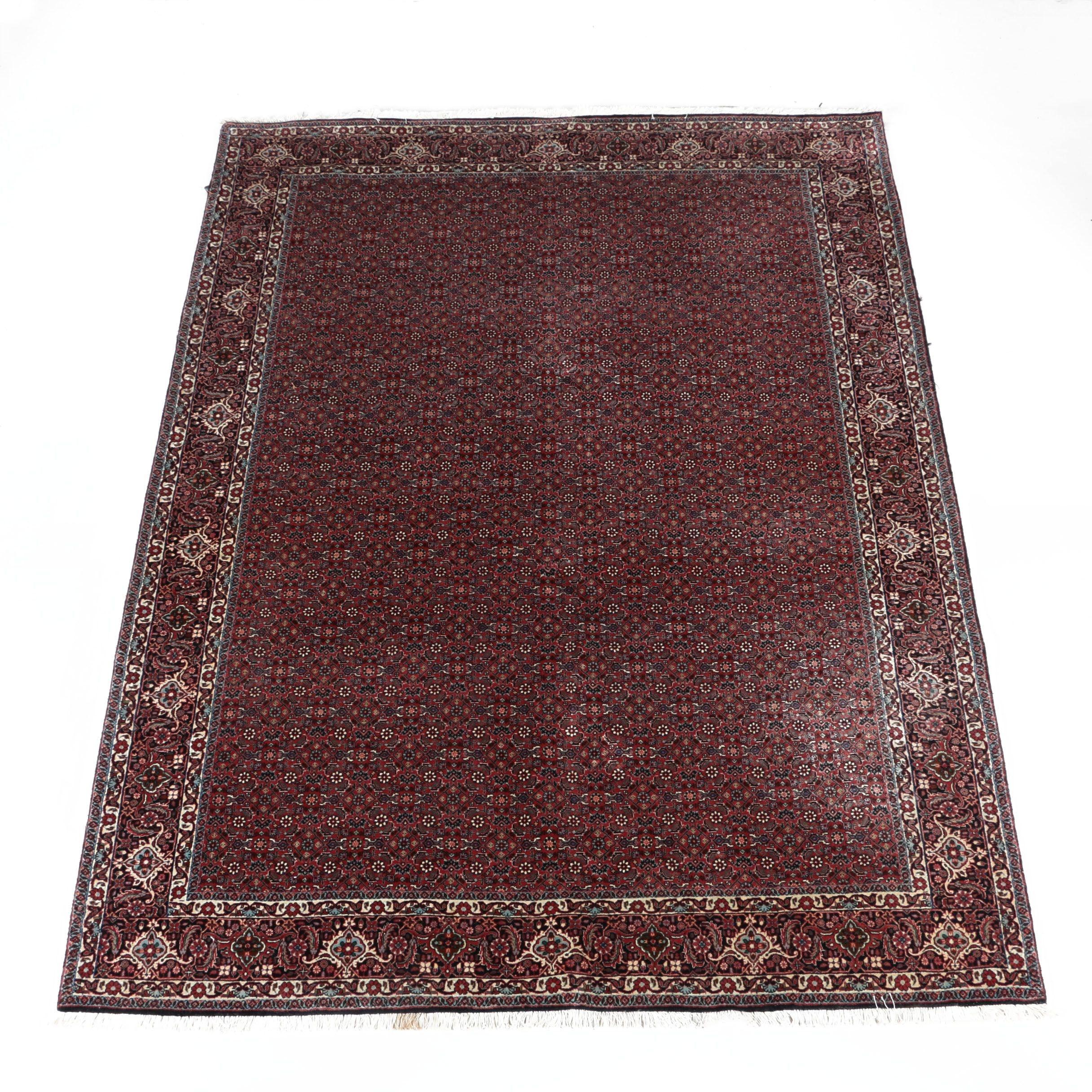 Hand-Knotted Persian Bijar Area Rug