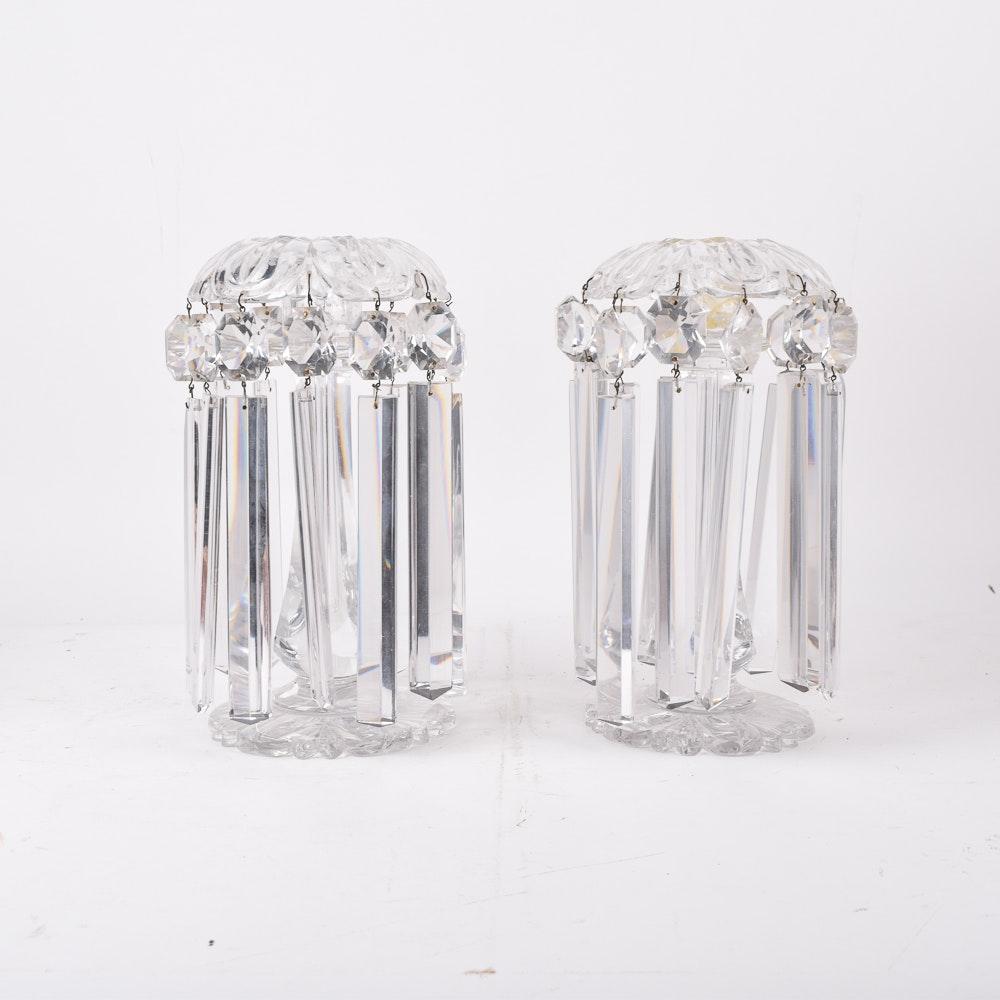 Pair of Crystal Mantle Lusters