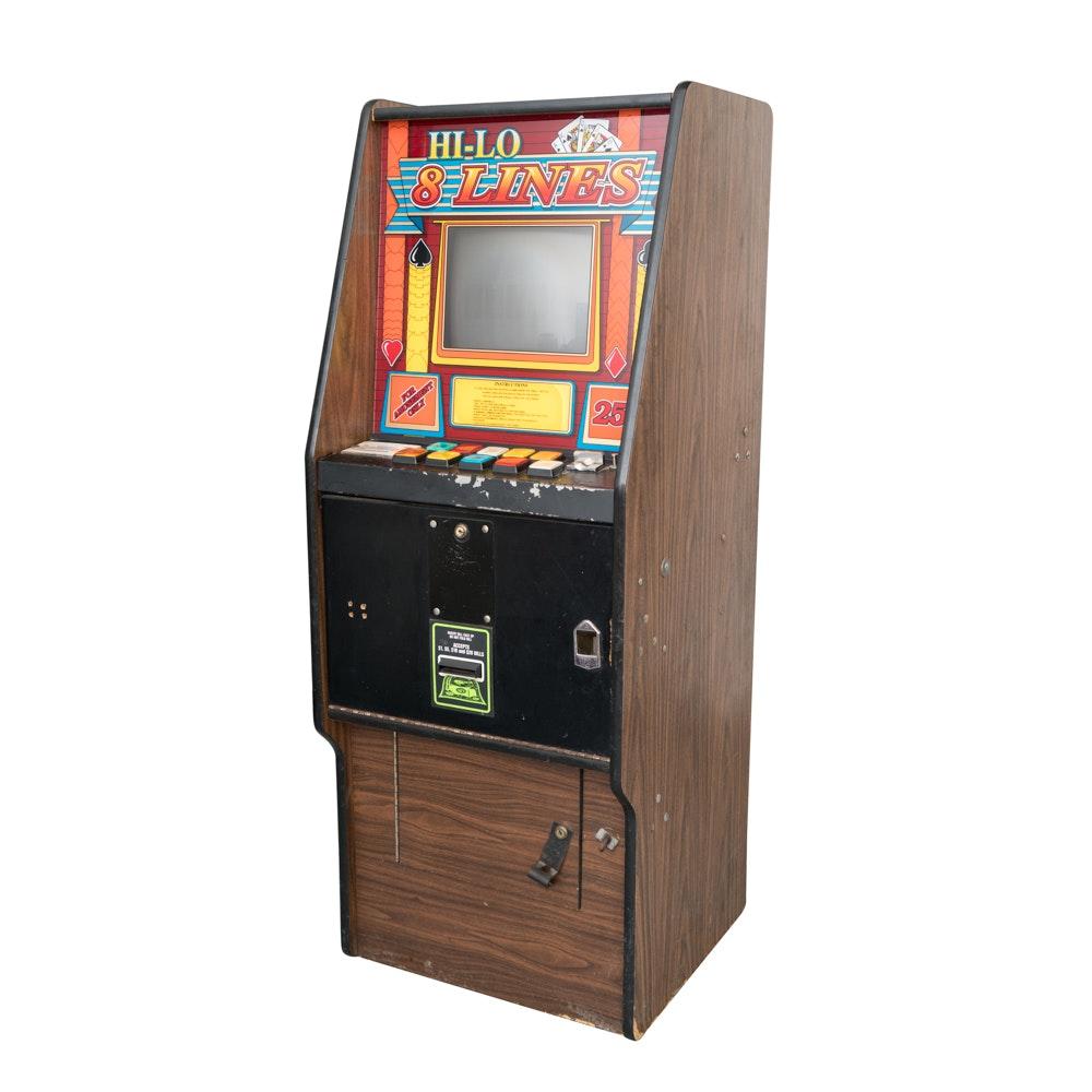 """Hi-Lo 8 Lines"" Electronic Slot Machine"