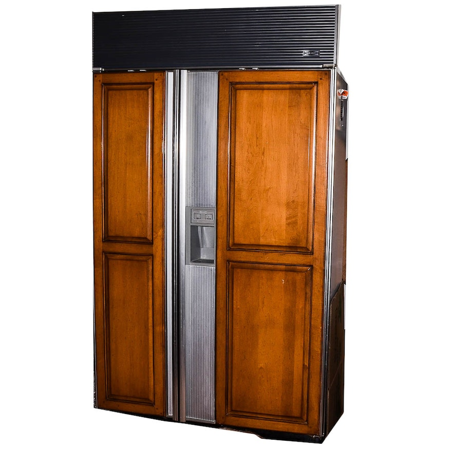 Well known Sub-Zero 690/F Refrigerator with Wood Paneling : EBTH UP93