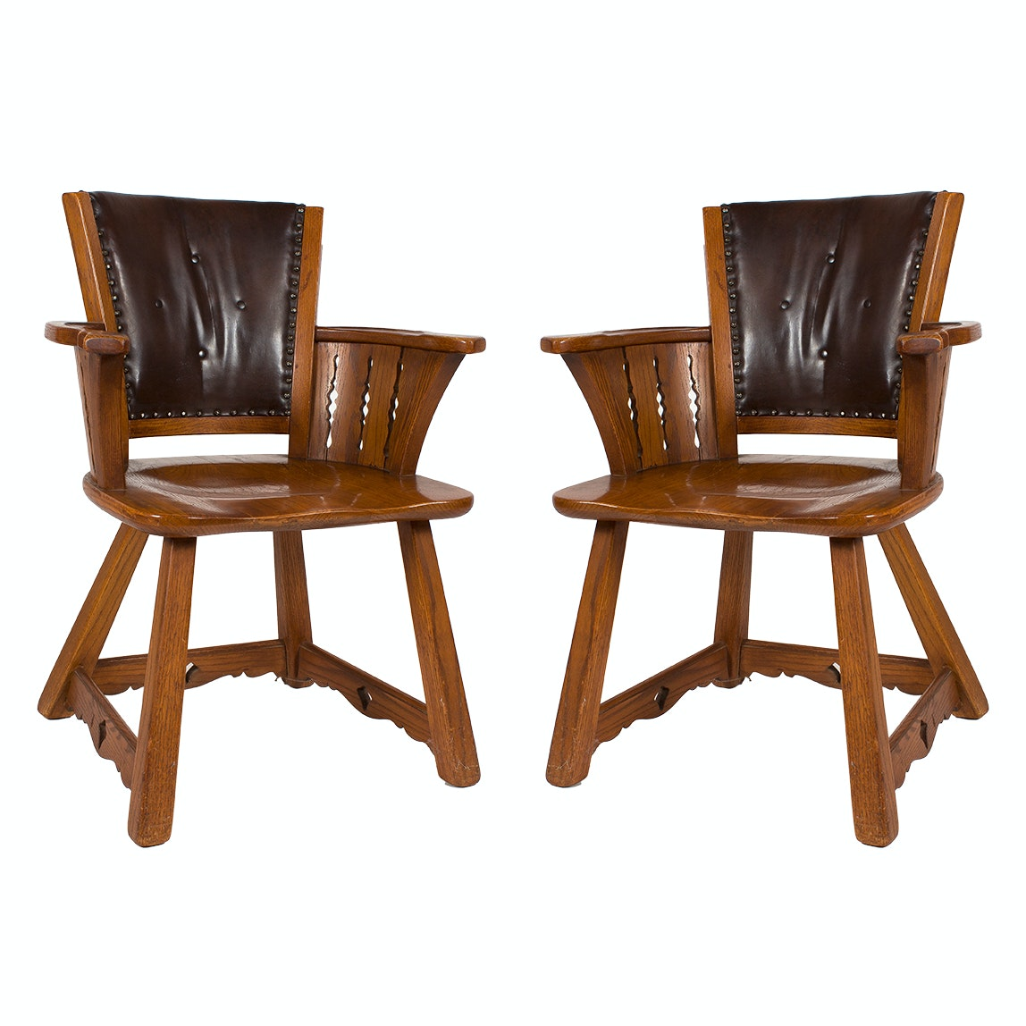 Pair of Vintage Romweber Viking Chairs