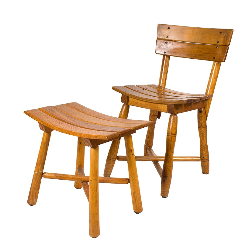 Old Hickory Chair and Ottoman