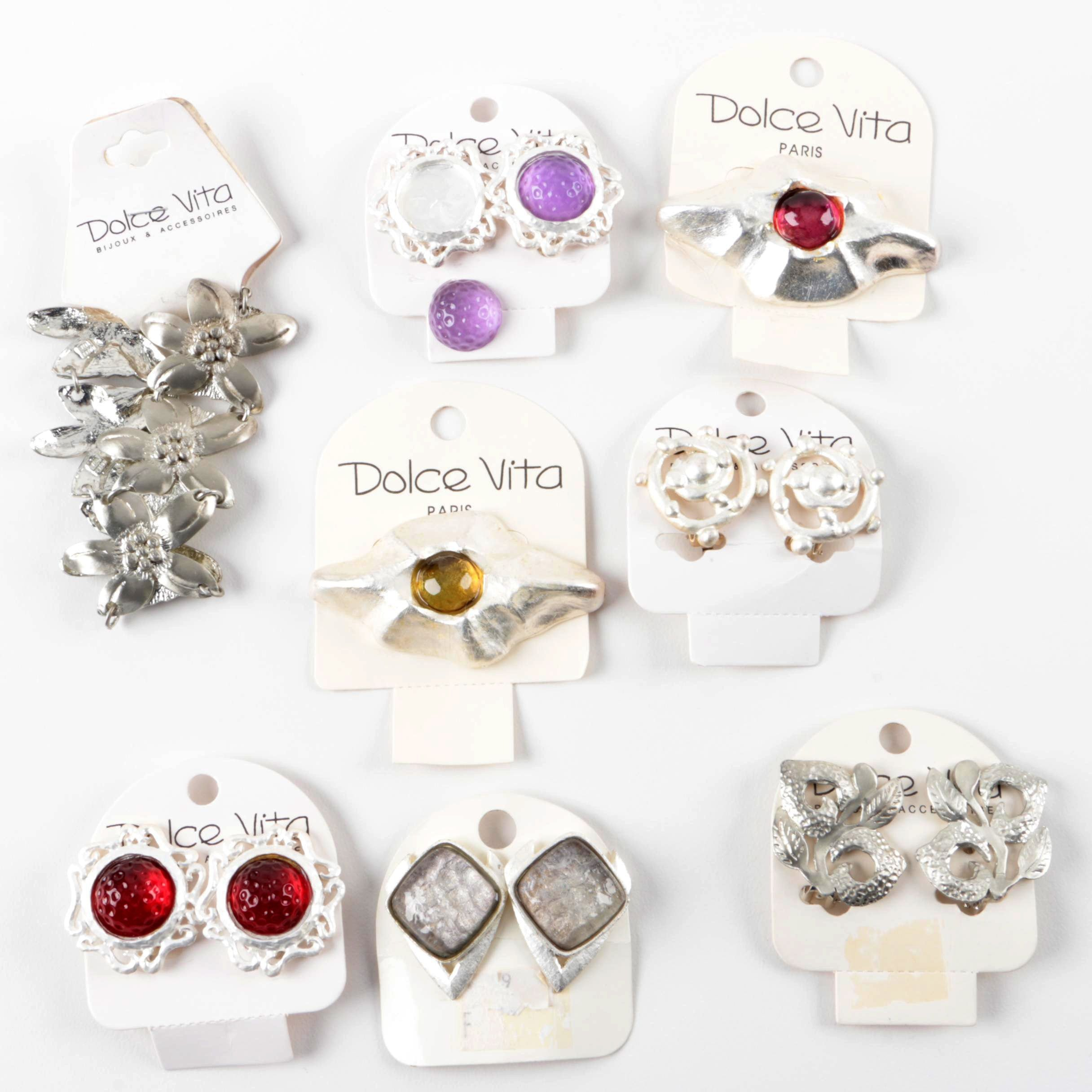 Assortment of Dolce Vita Earrings, Bracelets, and Brooches