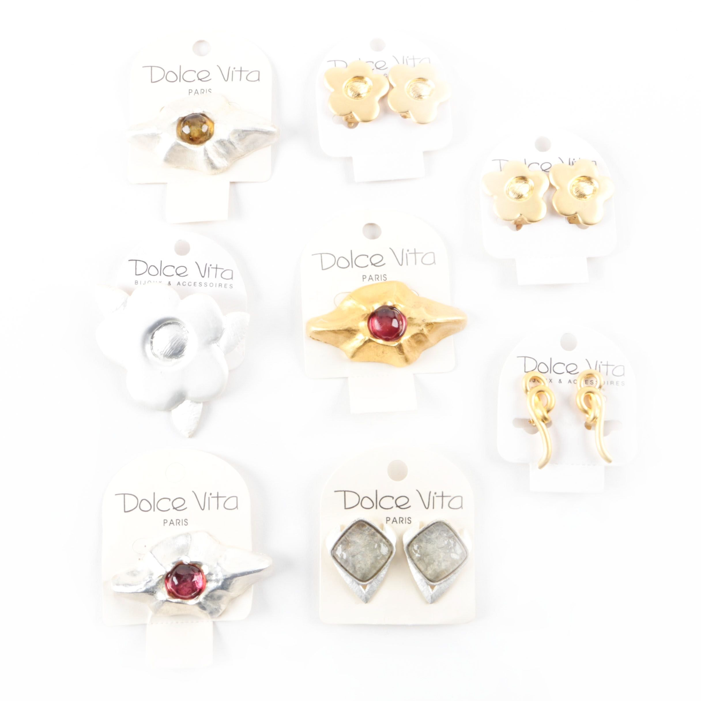 Dolce Vita Brooch and Earring Assortment