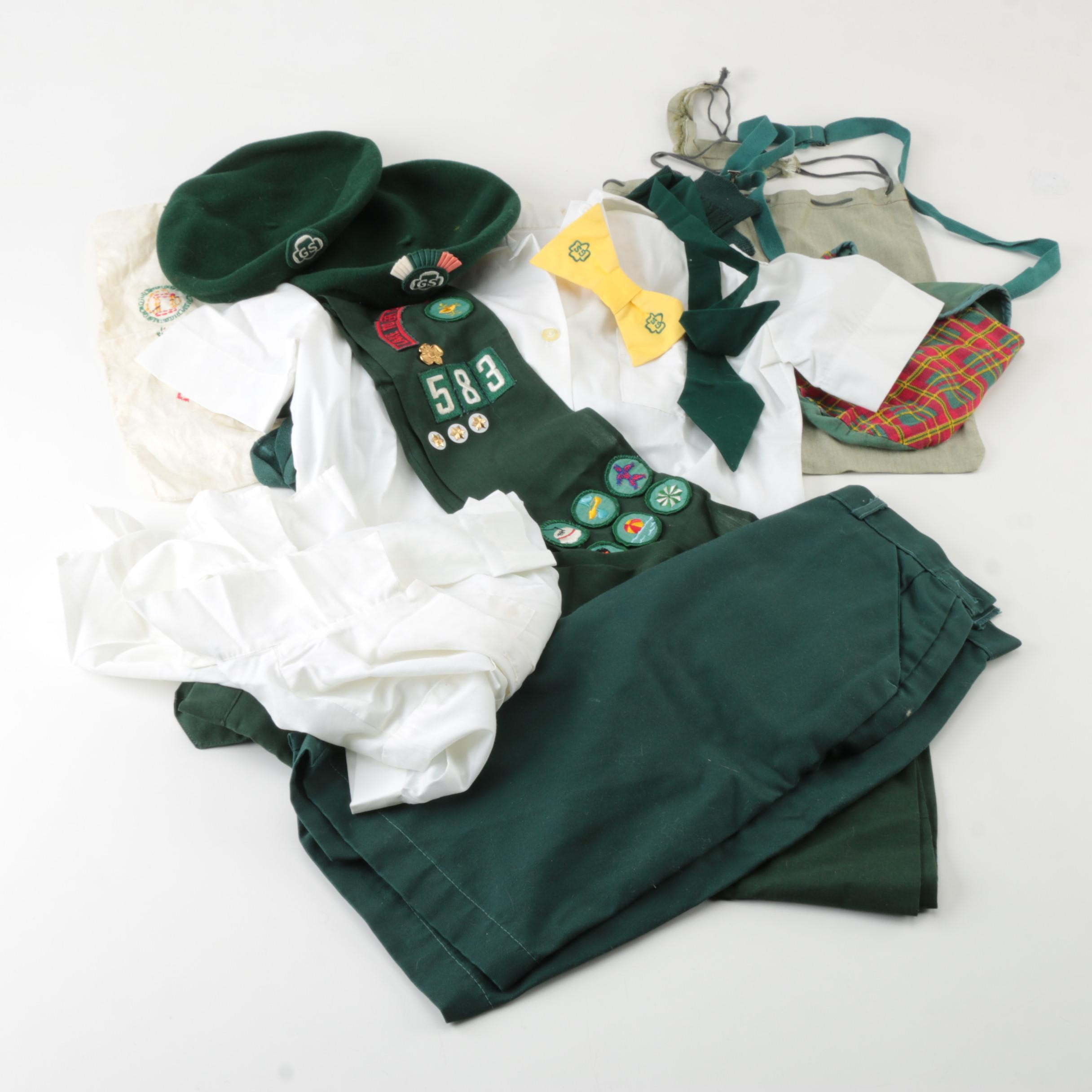 Vintage Girl Scouts Uniform Separates and Accessories