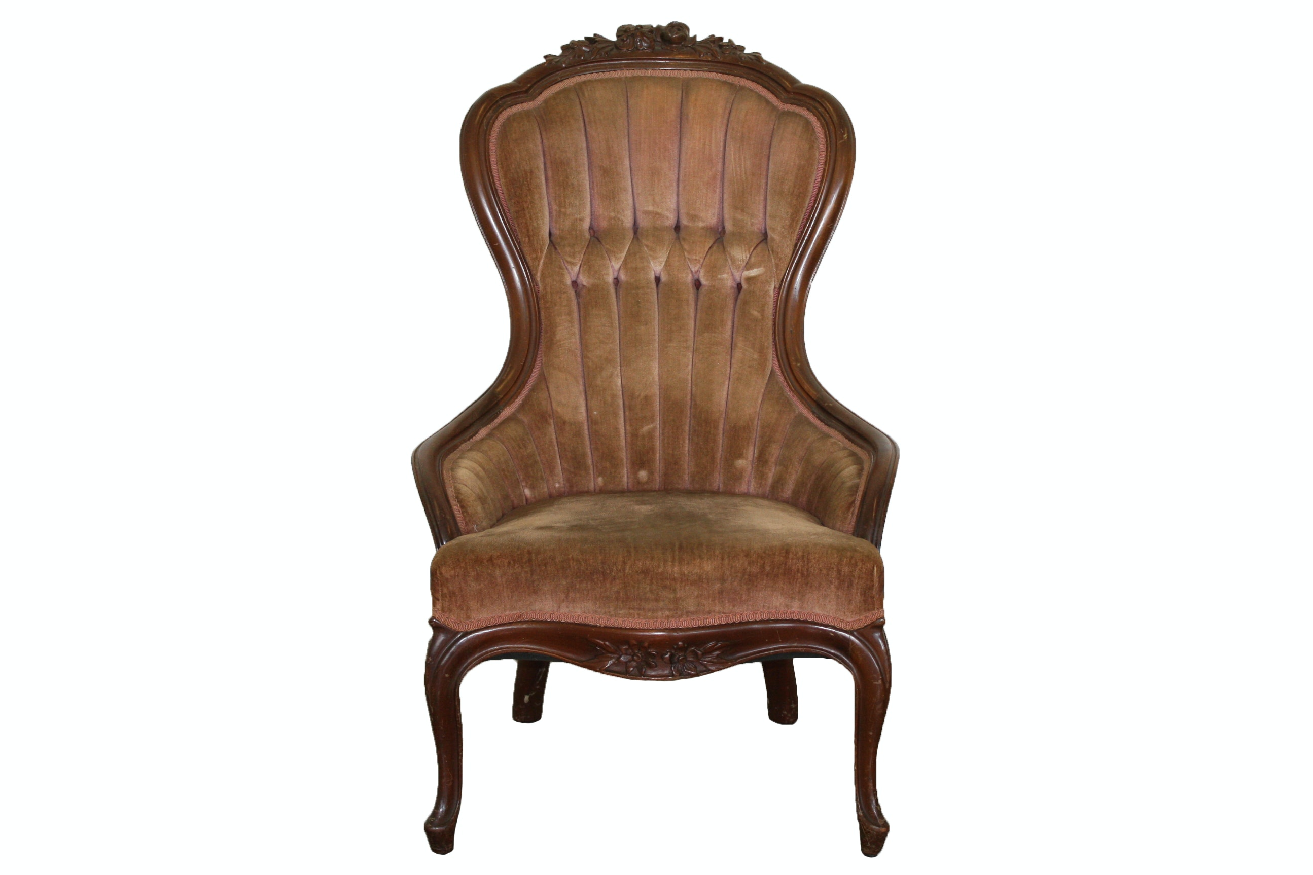 Antique Victorian Walnut Armchair