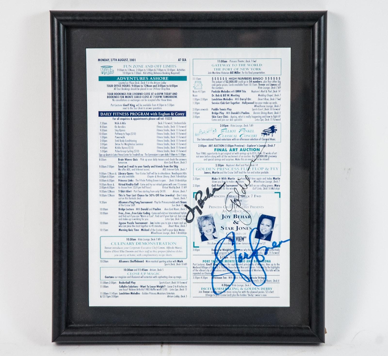 Joy Behar and Star Jones Autographs