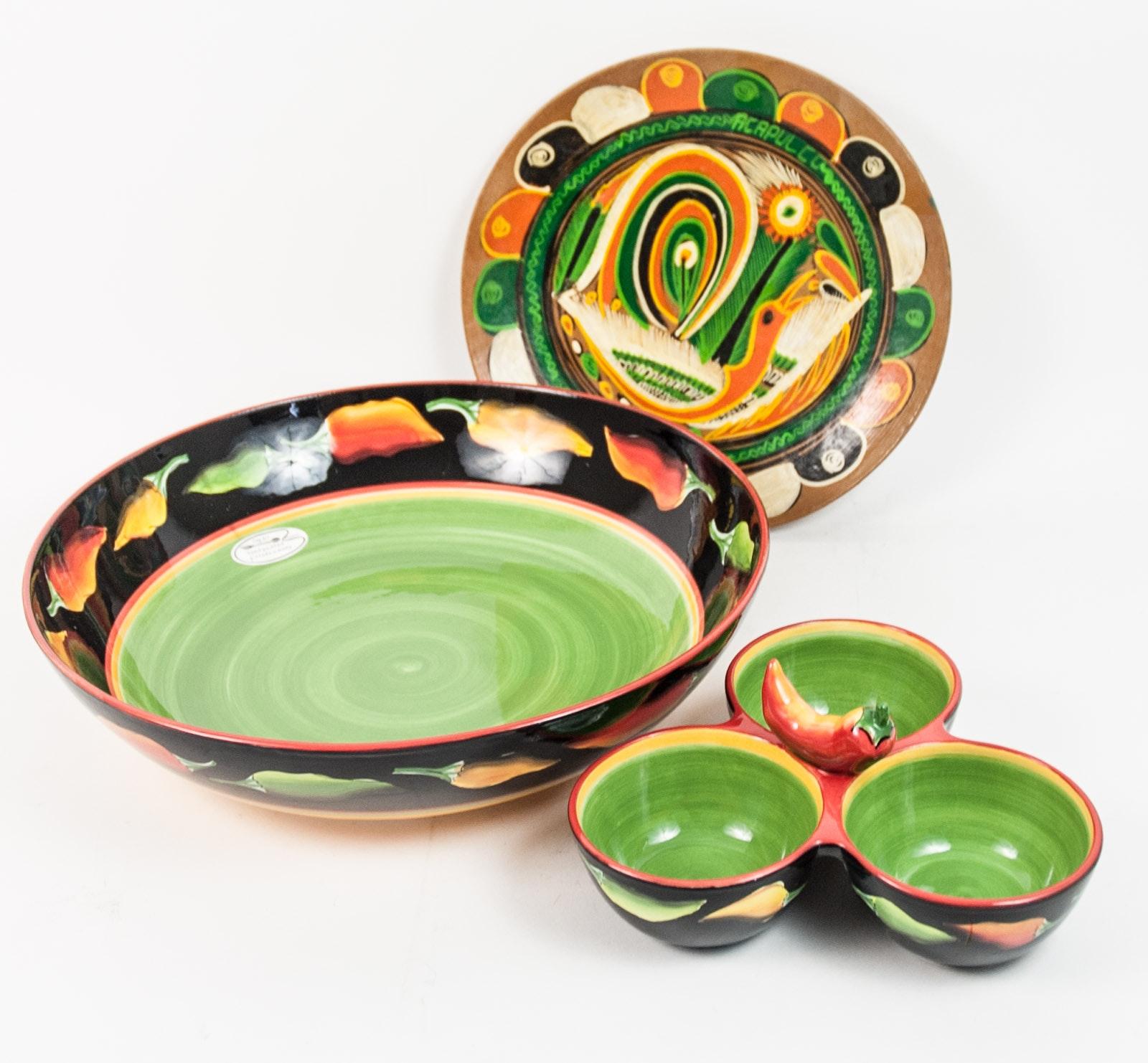 Hand Painted Fiesta Tableware Set