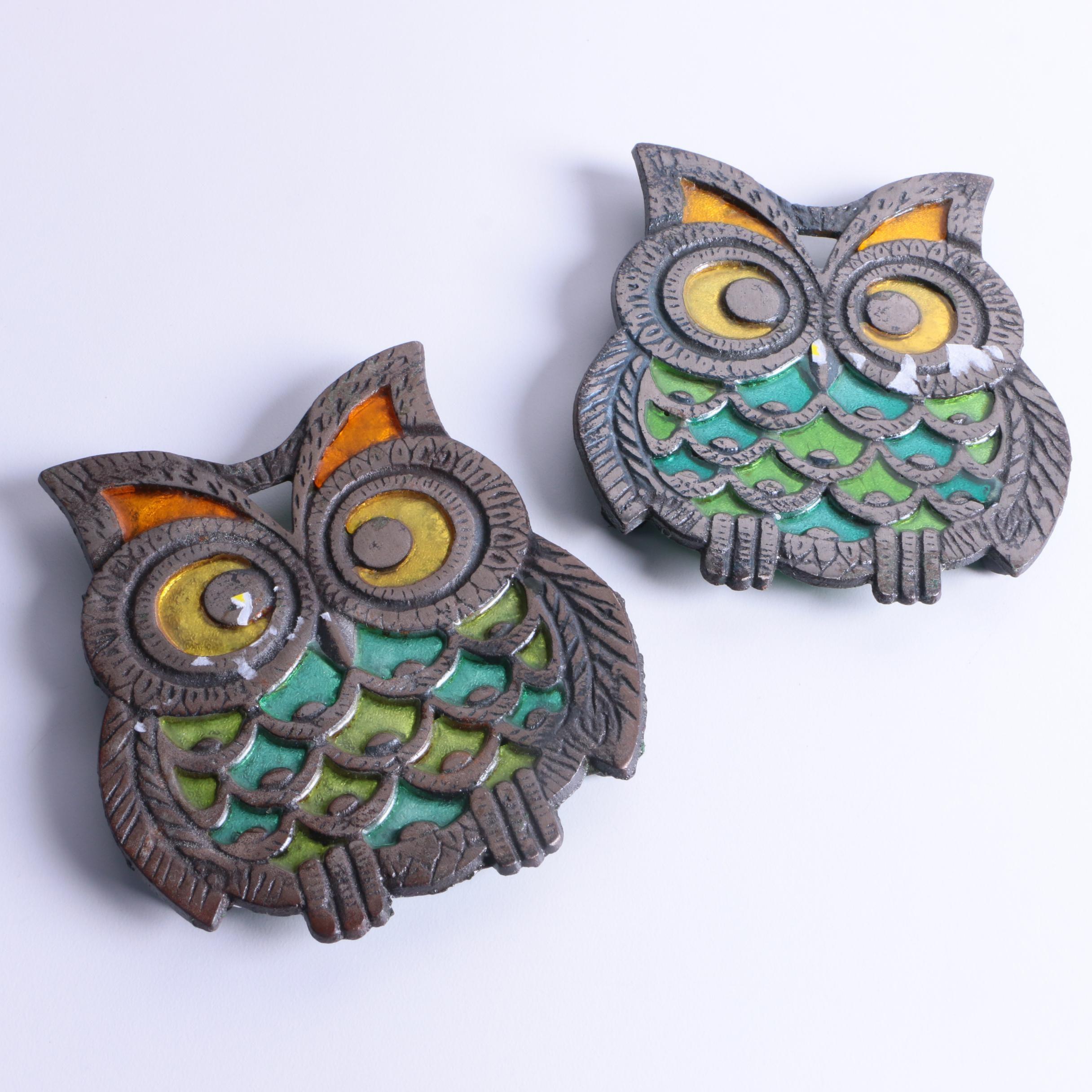 Metal Owl Trivets