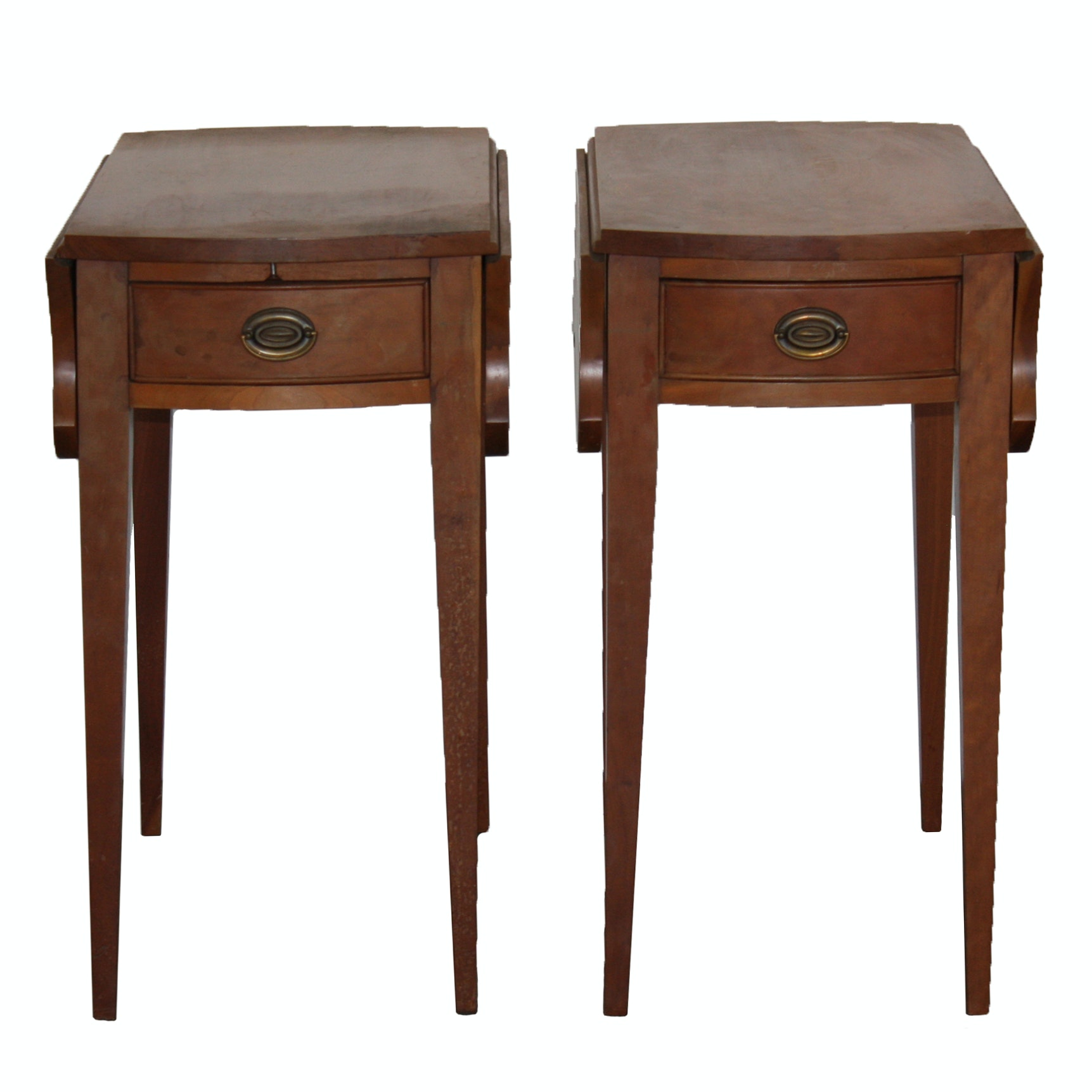 Pair of Penbroke Cherry Drop Leaf End Tables