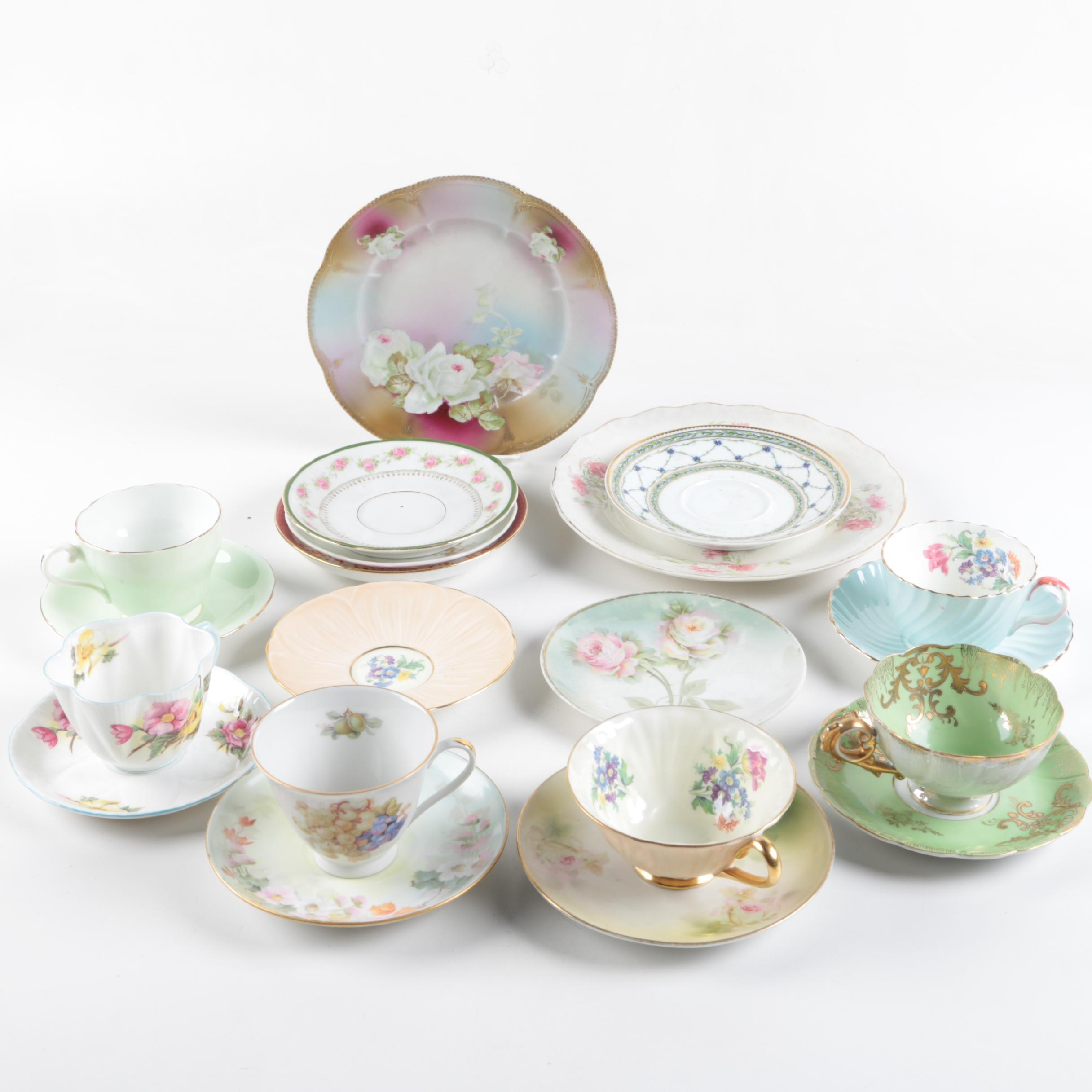 Vintage Teacups and Plates Including Shelley