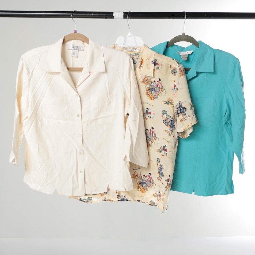 48dc755c96e158 Women s Vintage Silk Blouses   EBTH