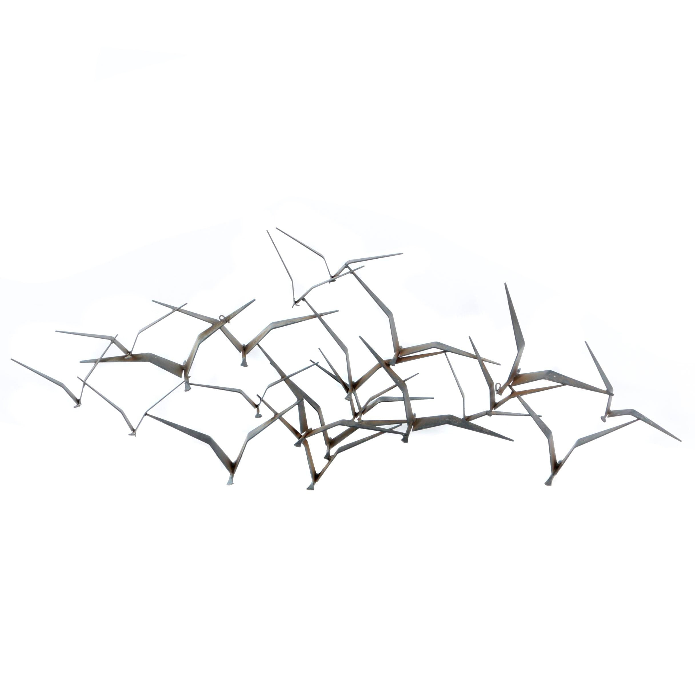 """Metal Wall Hanging in the Style of Curtis Jeré's """"Flock of Birds"""""""
