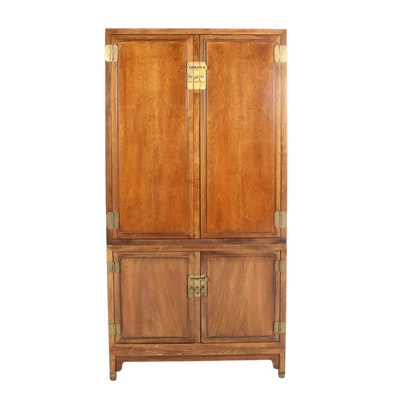 Chinese Inspired Linen Cabinet - Online Furniture Auctions Vintage Furniture Auction Antique