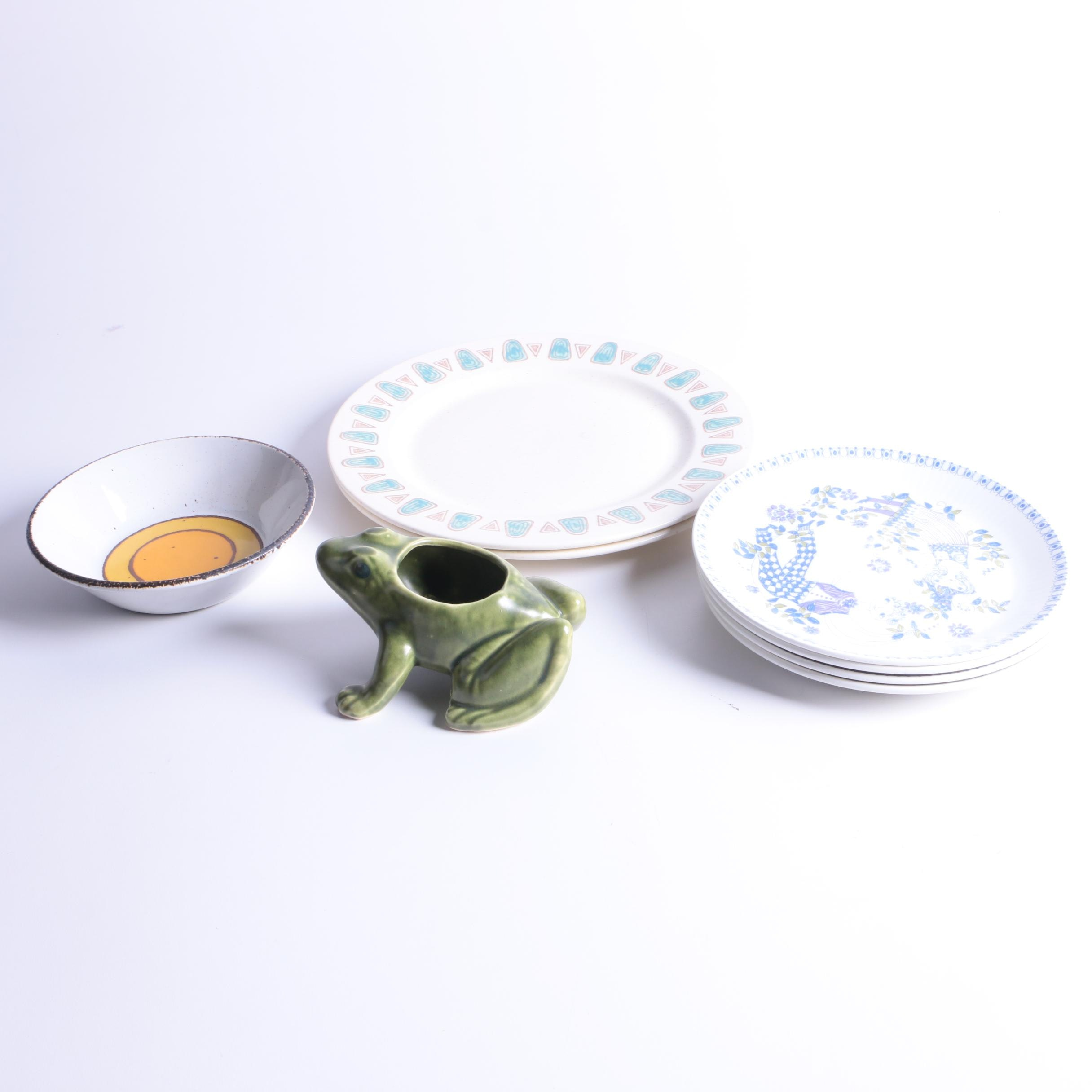Stoneware and Porcelain Tableware and Decor including  Figgjo