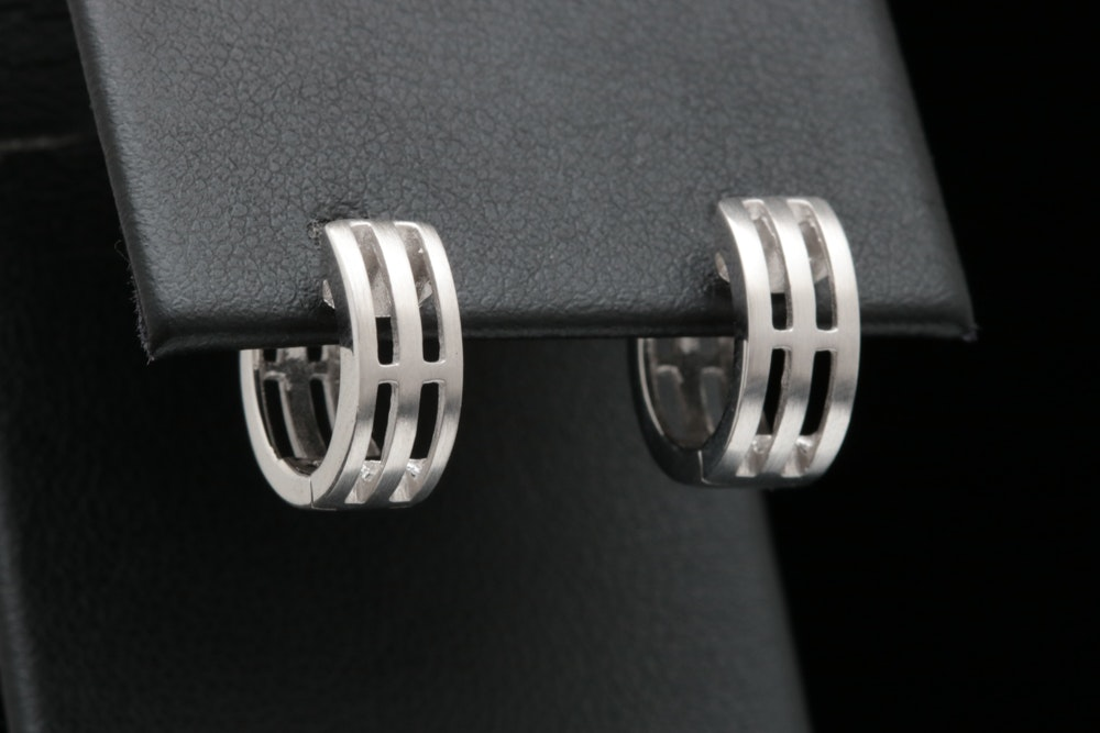 Bastian Sterling Silver Huggie Earrings