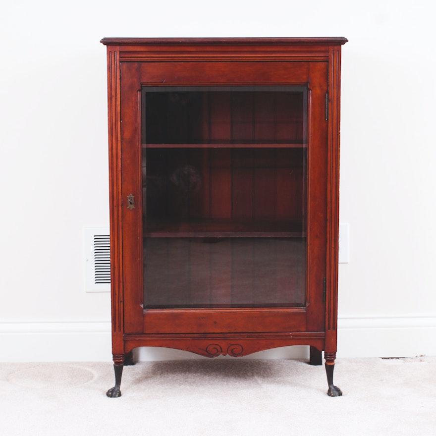 Vintage Cherry Wood Curio Cabinet ... - Vintage Cherry Wood Curio Cabinet : EBTH