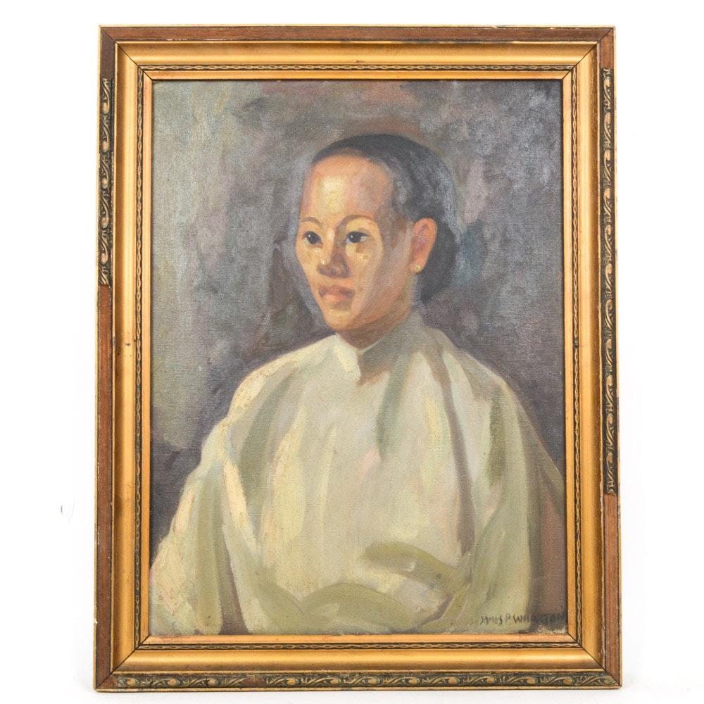 James P. Wharton Oil on Canvas Portrait Painting