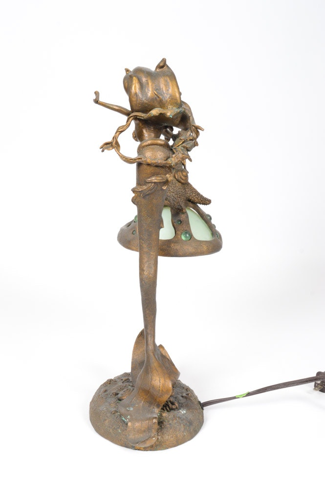 Disney Quot The Little Mermaid Quot Cast Bronze Lamp Ebth