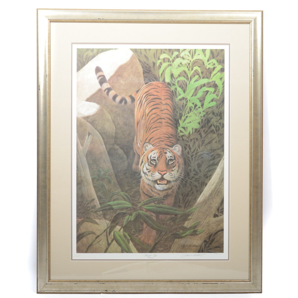 "John Ruthven Signed Limited Edition Print ""Bengal Tiger"""