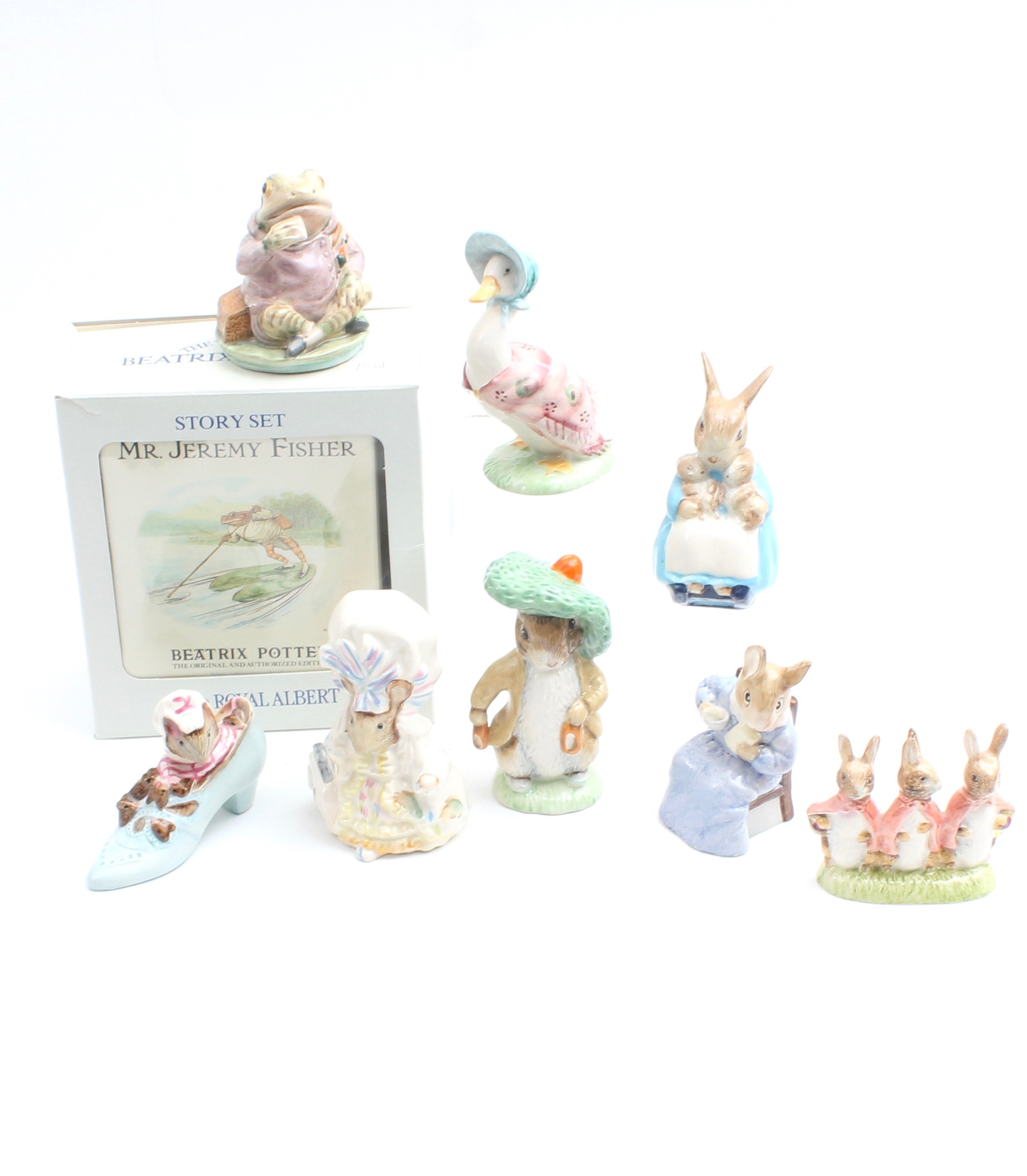 """""""The World of Beatrix Potter"""" Ceramic Figurines by Royal Albert"""