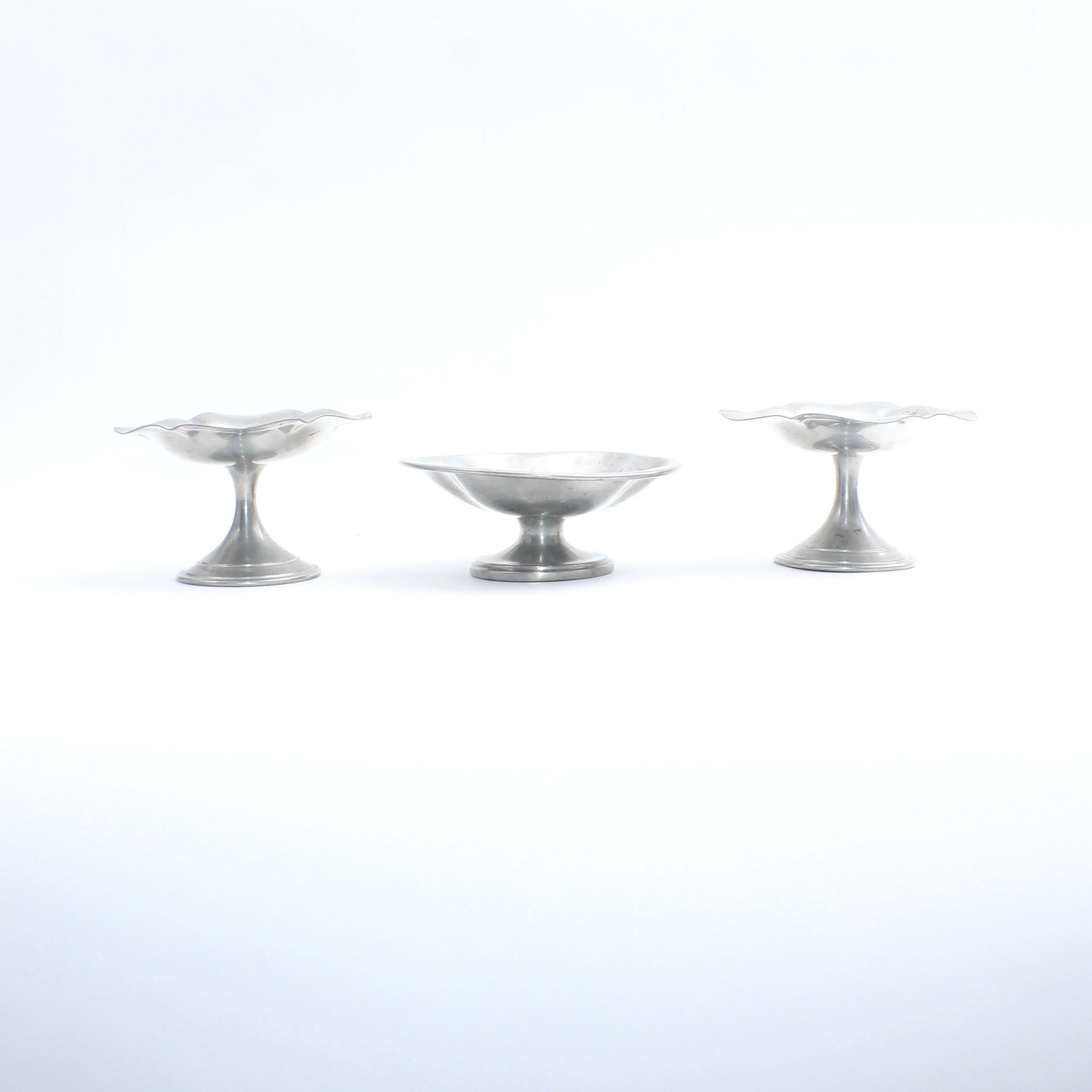 Pewter Compote Trio