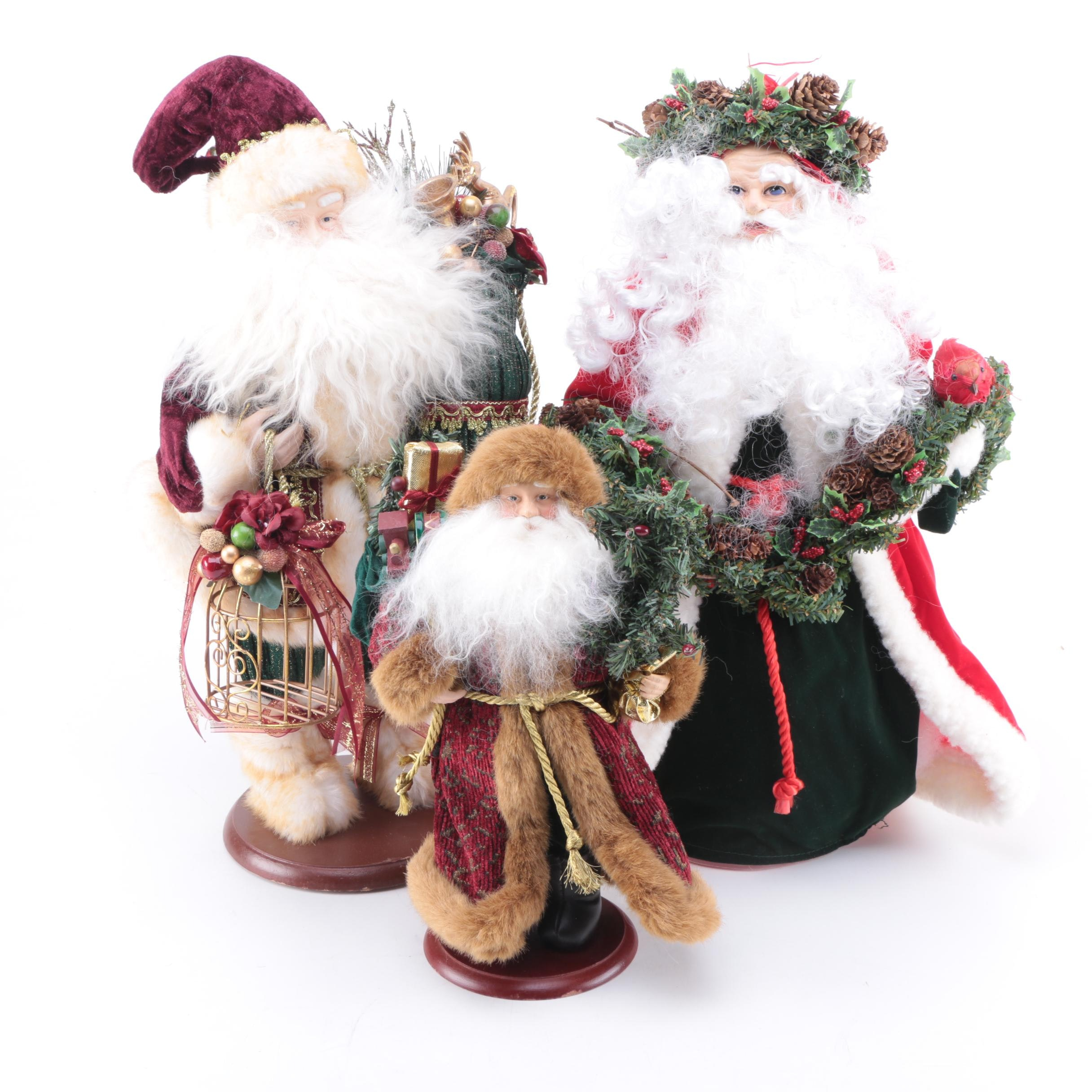Santa Tree Topper and Figurines