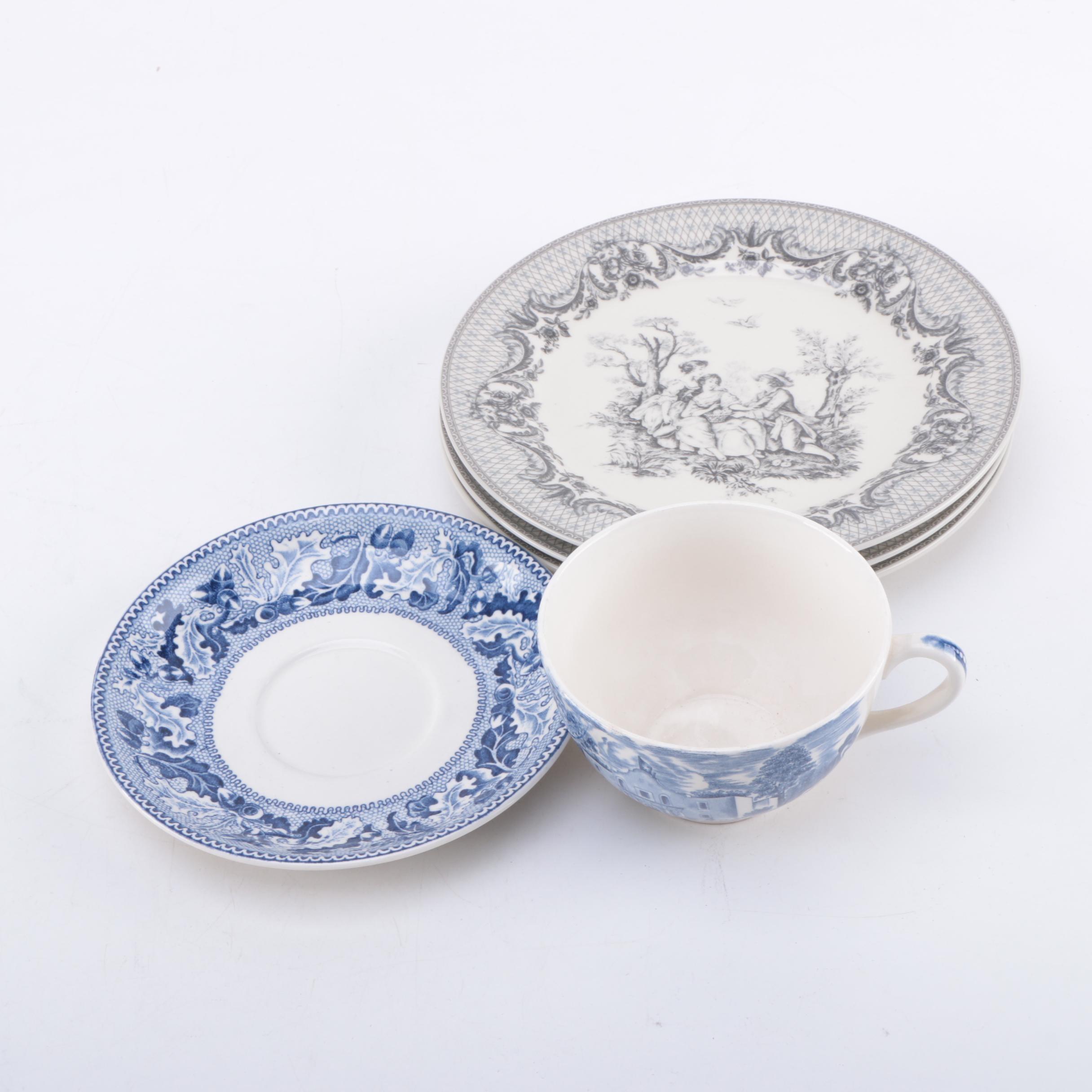 Vintage Tableware Including Johnson Brothers and Godinger