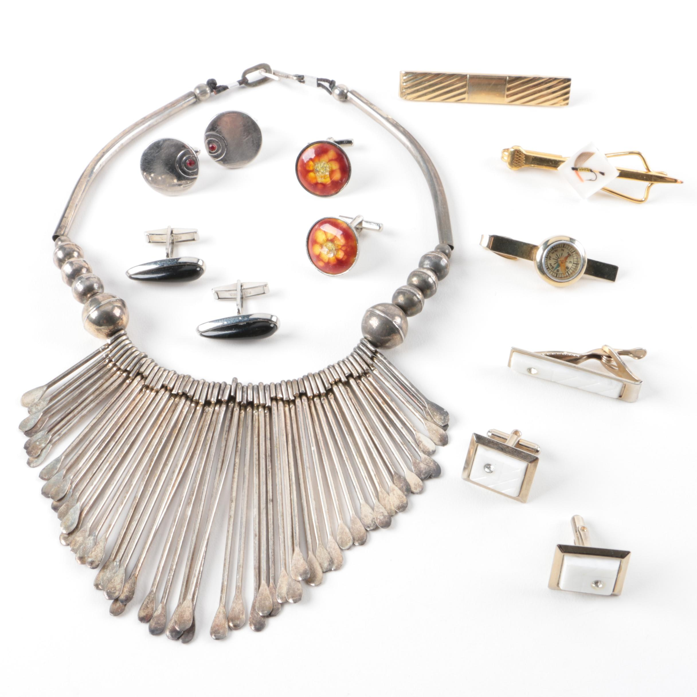 Grouping of Jewelry Including Cufflinks
