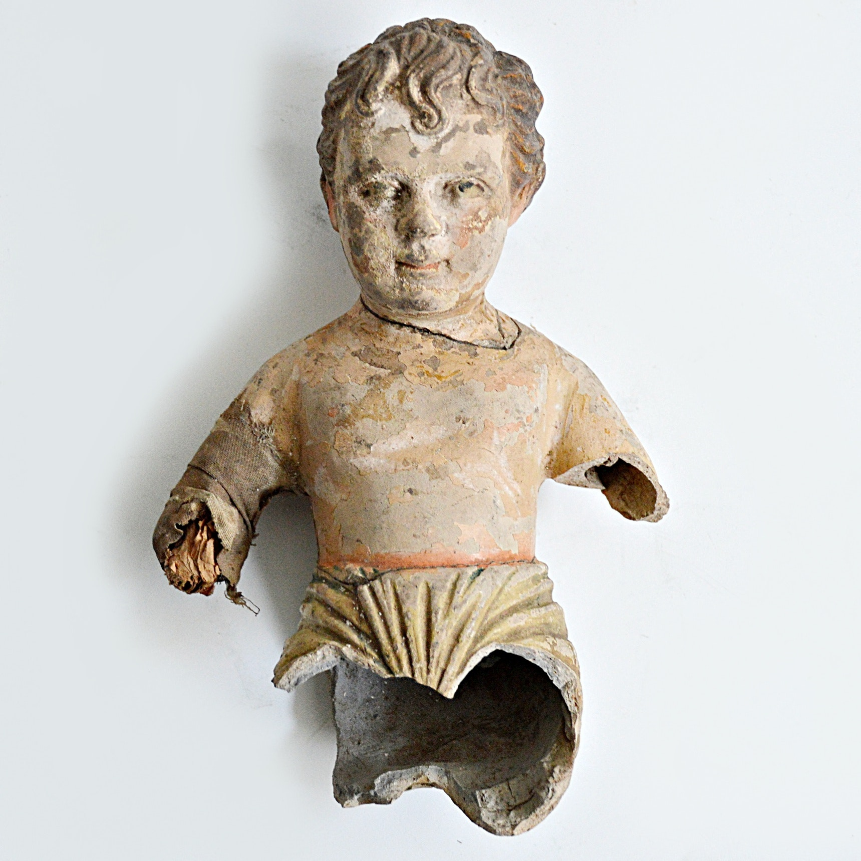 Early 19th Century Latin American Hand Painted Terra Cotta Sculpture