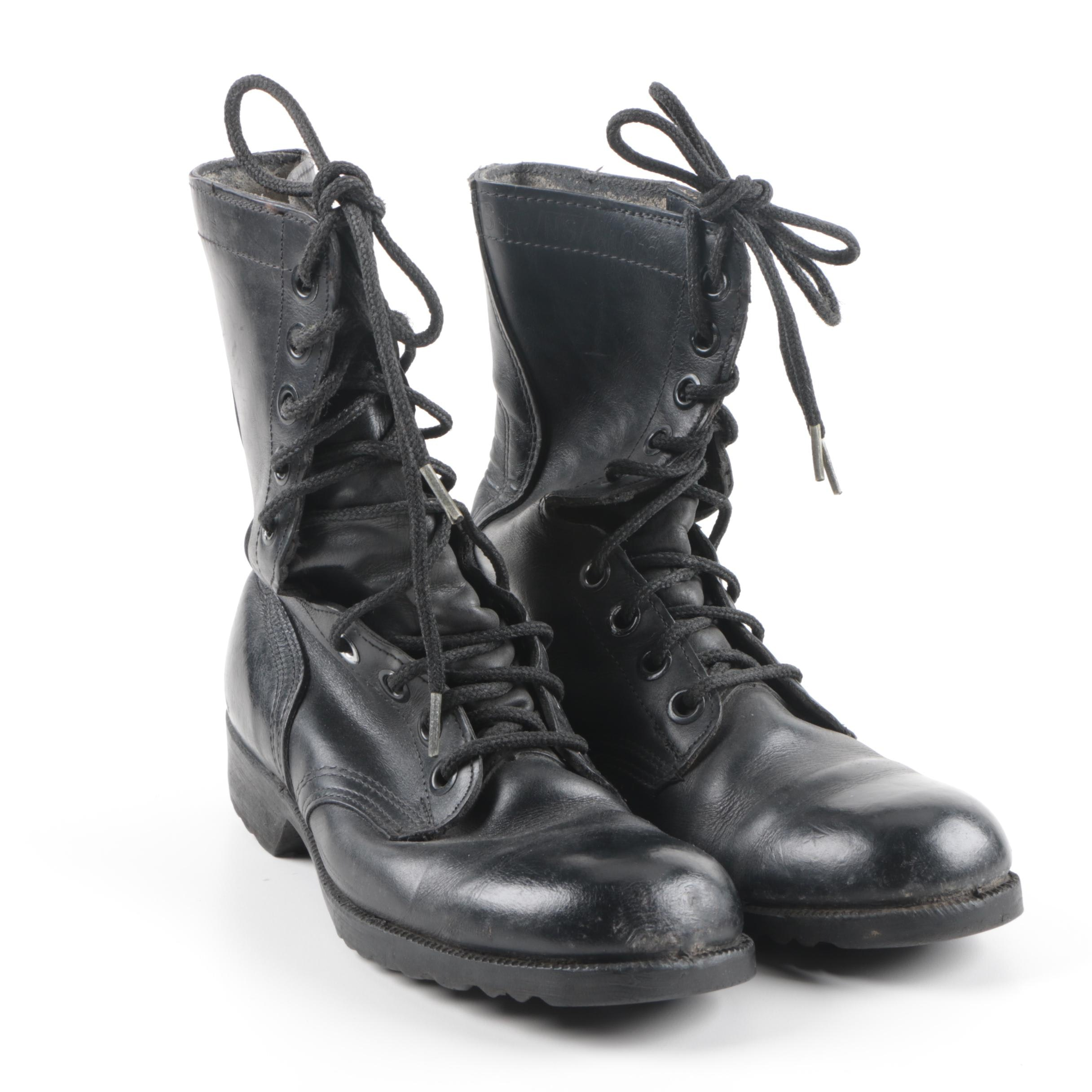 Vintage Black Military Boots by Ro-Search