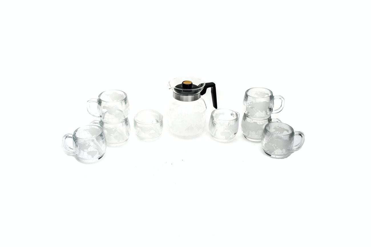 Nestlé Glass Coffee Set