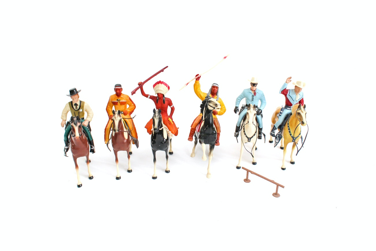Cowboy and Indian Action Figures