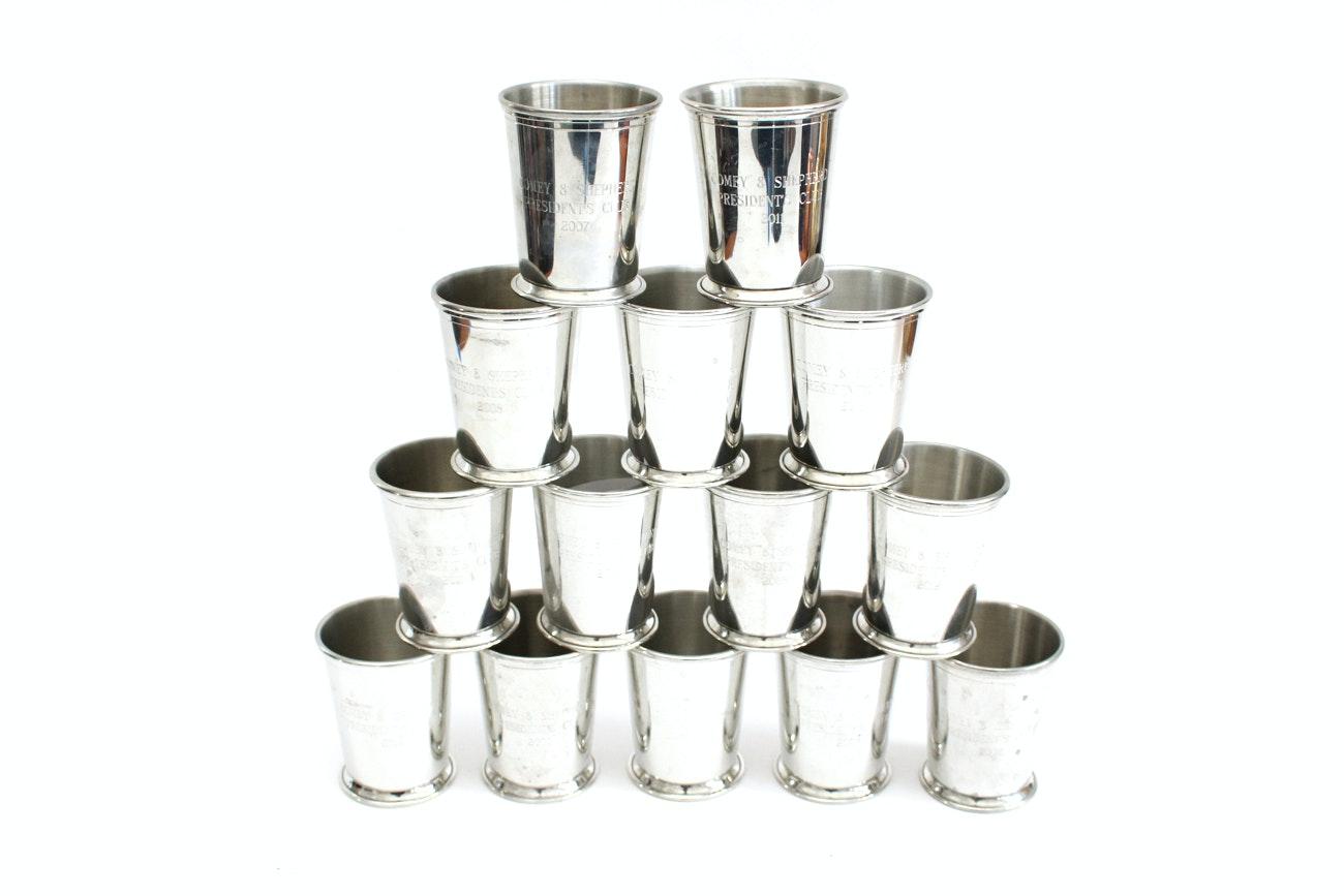 Woodbury Pewterers Pewter Julep Cups