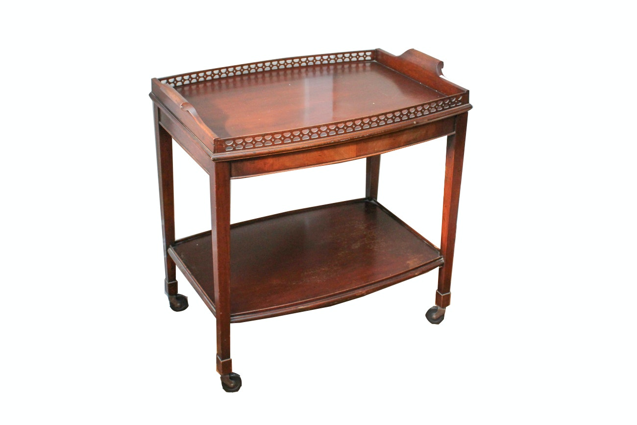 Fine Arts Furniture Co. Mahogany Bar Cart