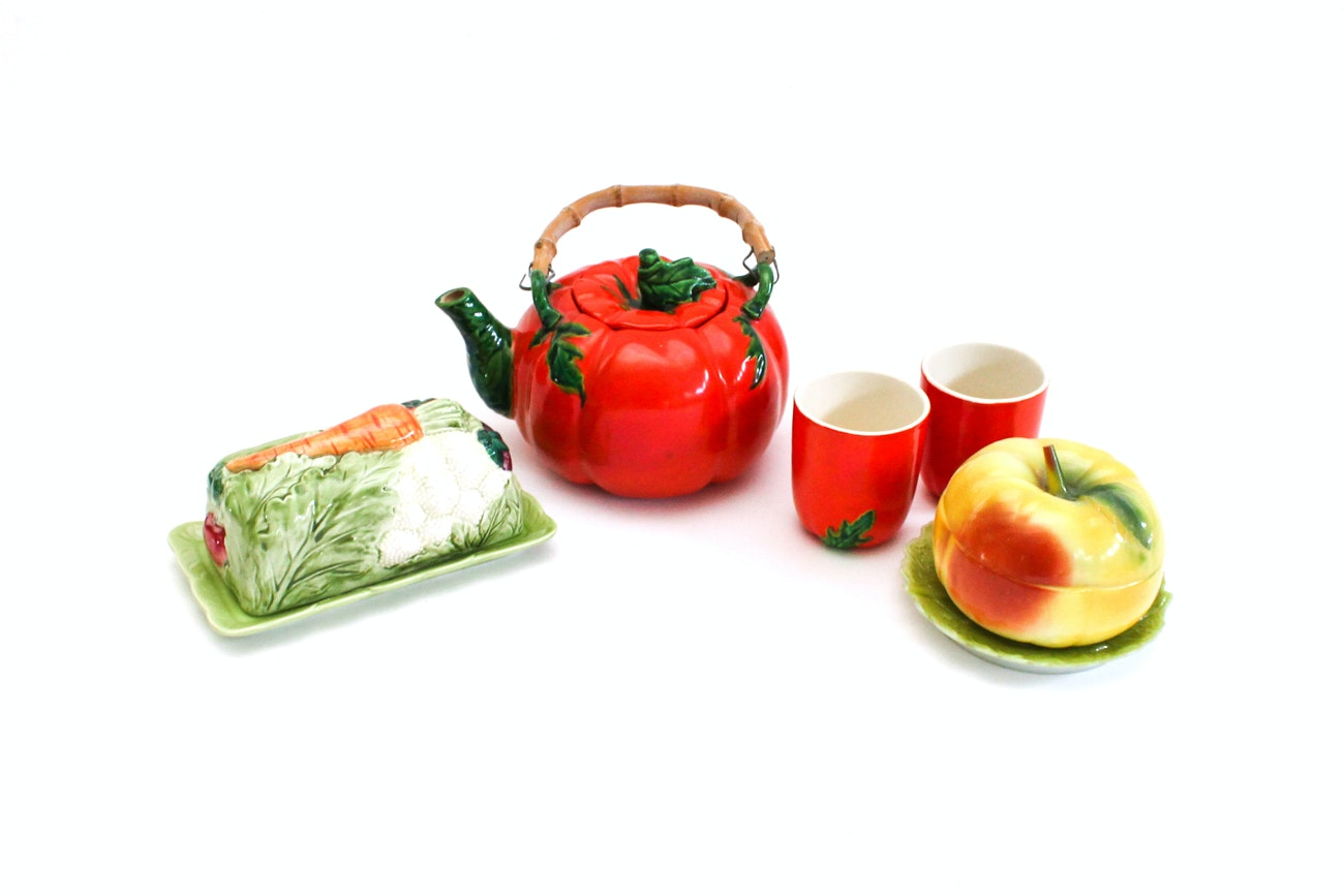 Fruit Themed Tableware including Occupied Japan