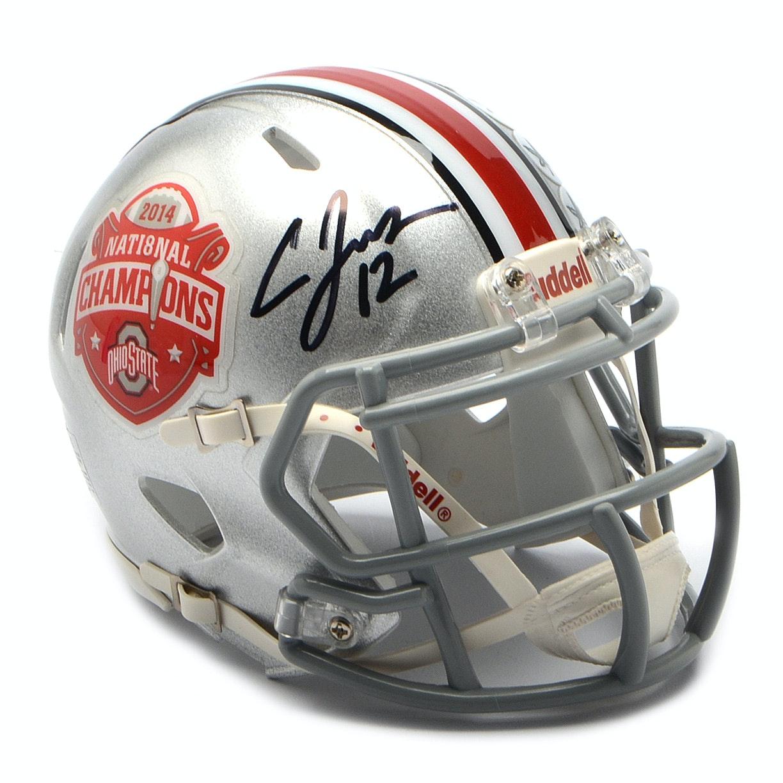 2014 Cardale Jones Signed OSU Mini Football Helmet