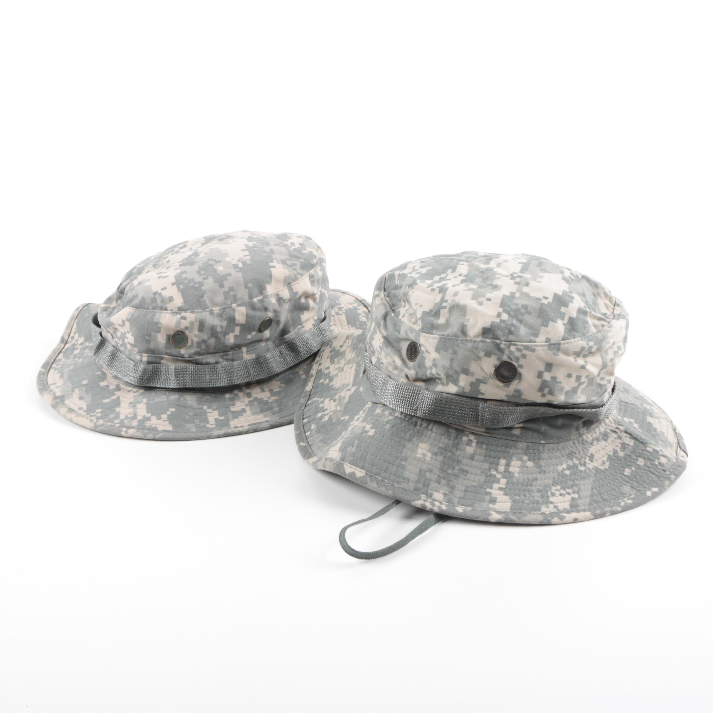 Pair of Camouflage Canvas Sun Hats