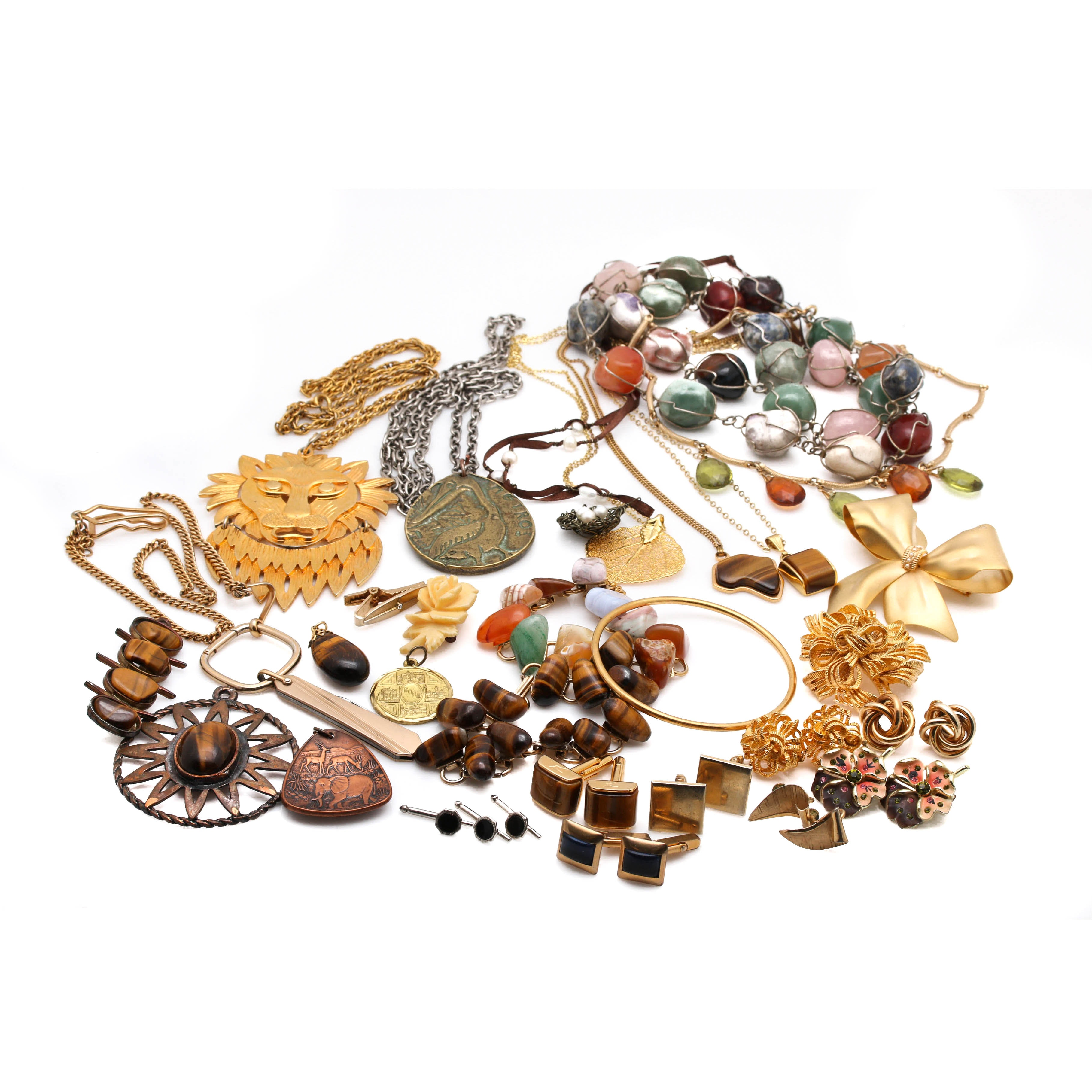 Assortment of Jewelry Featuring Tiger's Eye