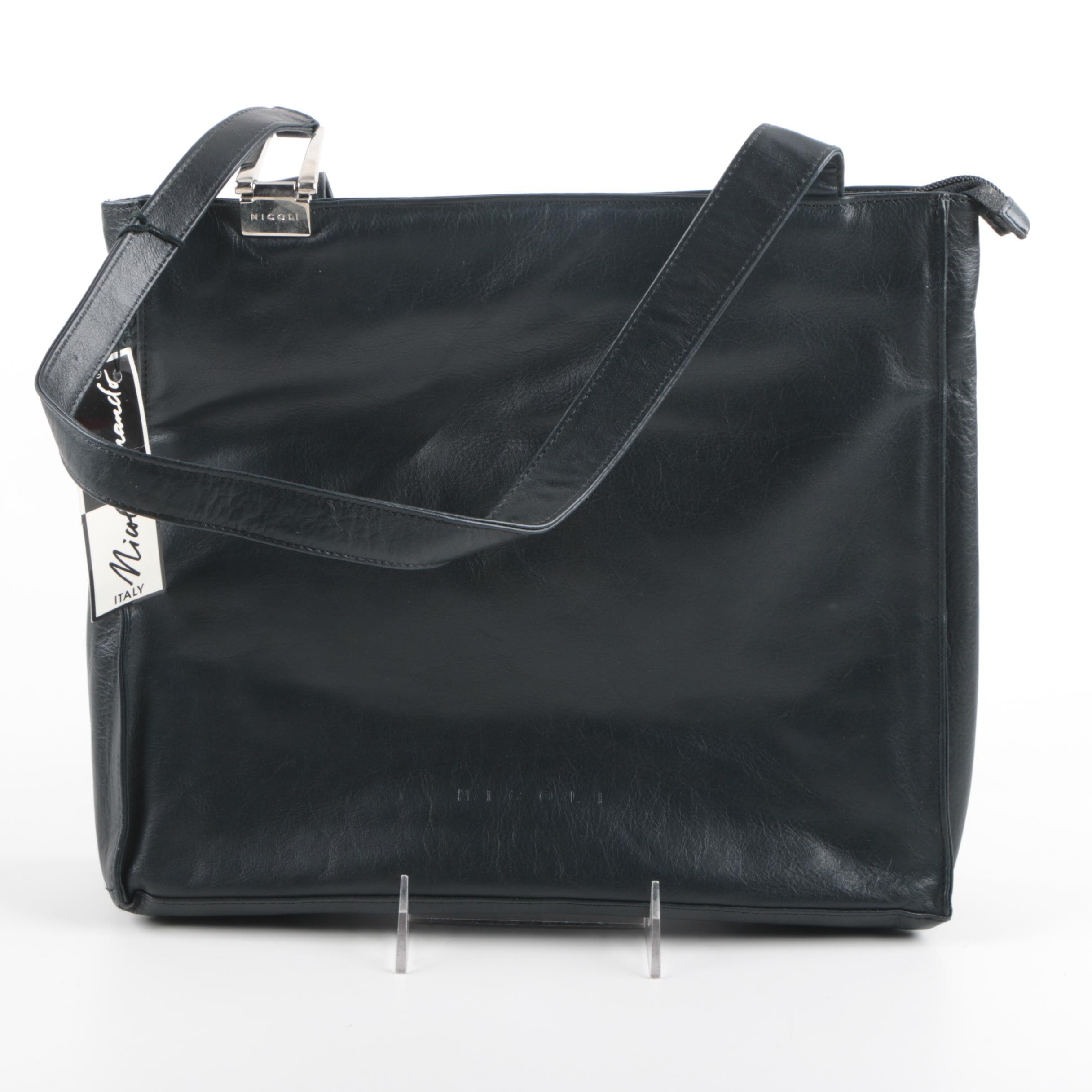 Nicoli Fernando Black Leather Handbag