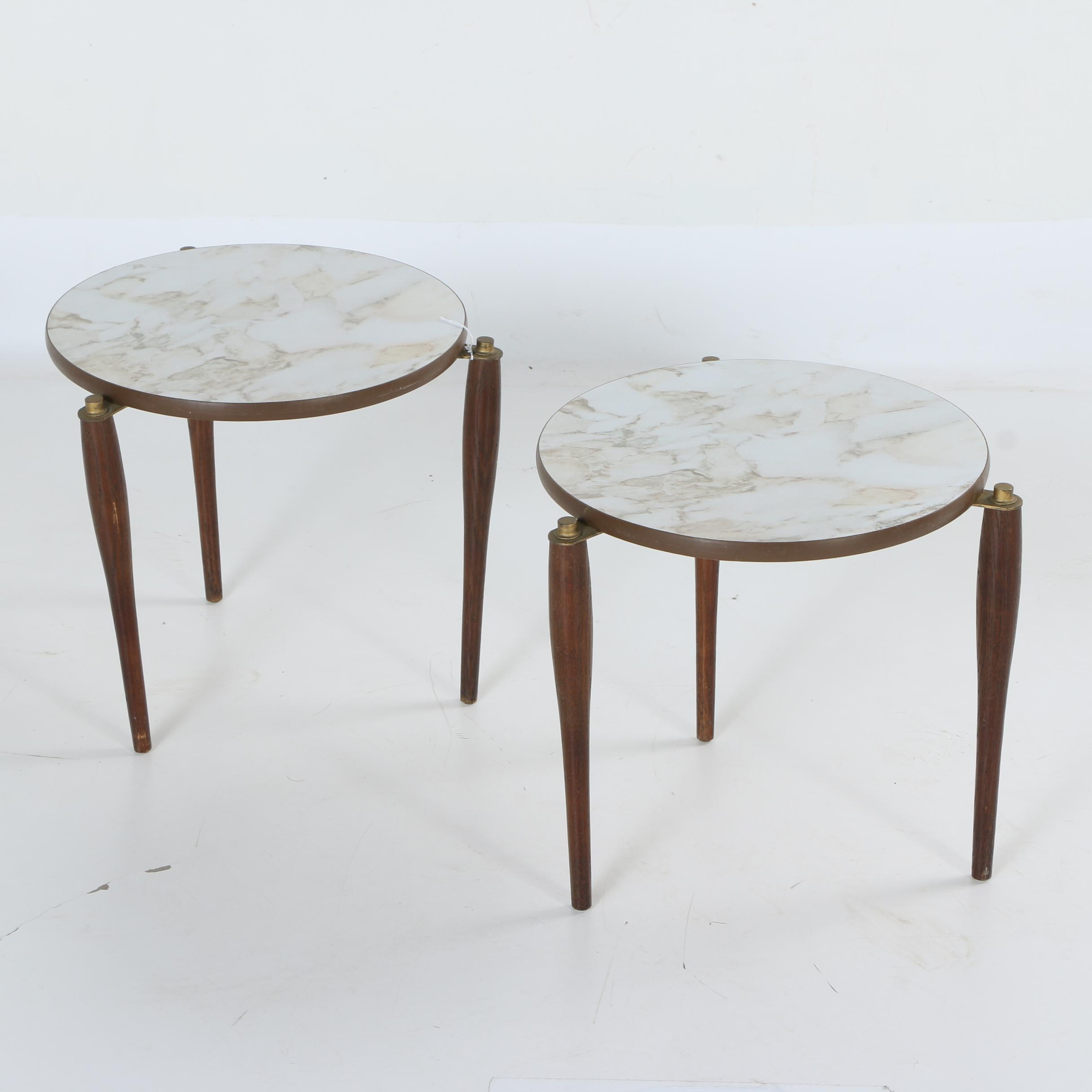 Vintage Mid Century Modern Stacking End Tables