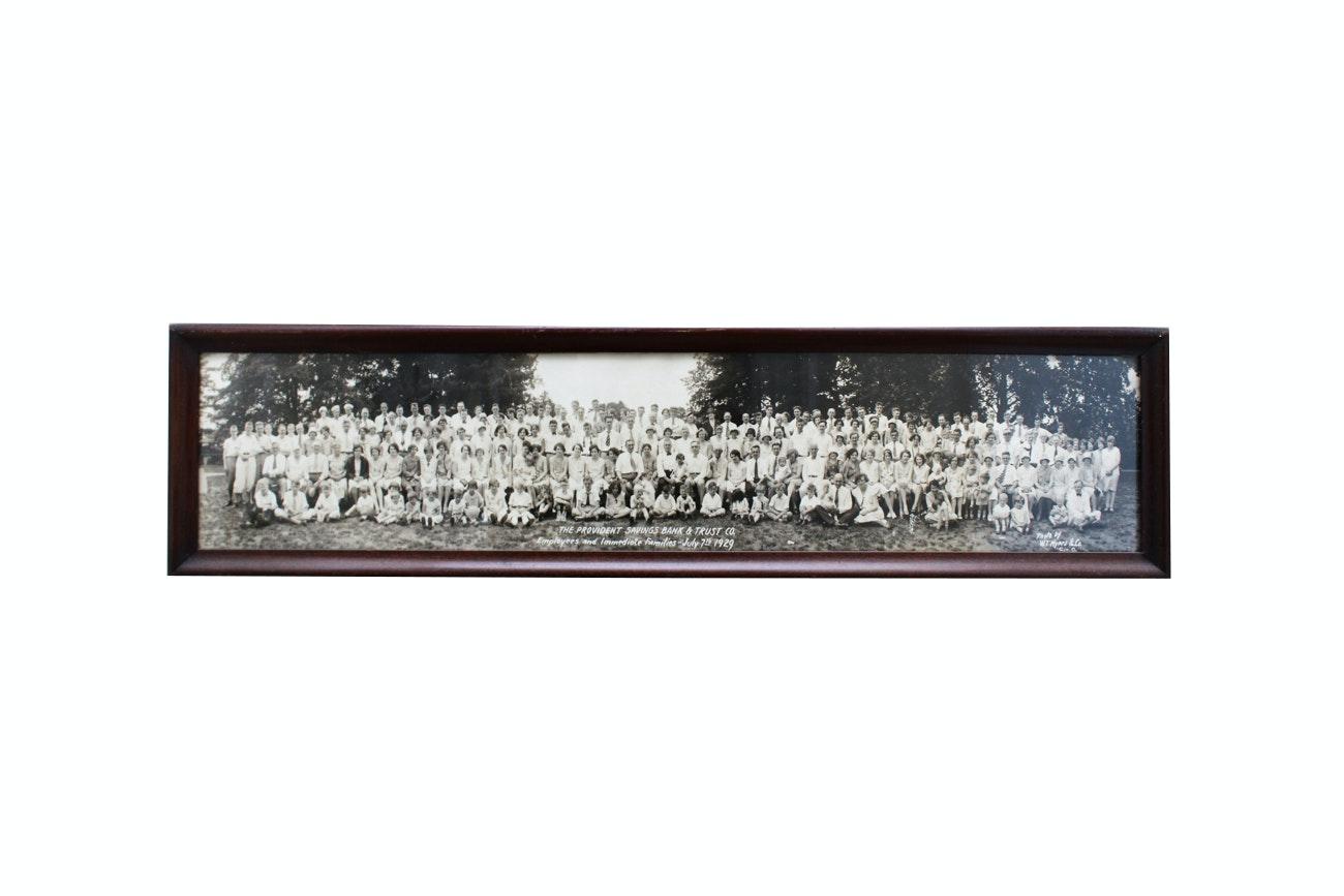 1929 Black and White Framed Photograph