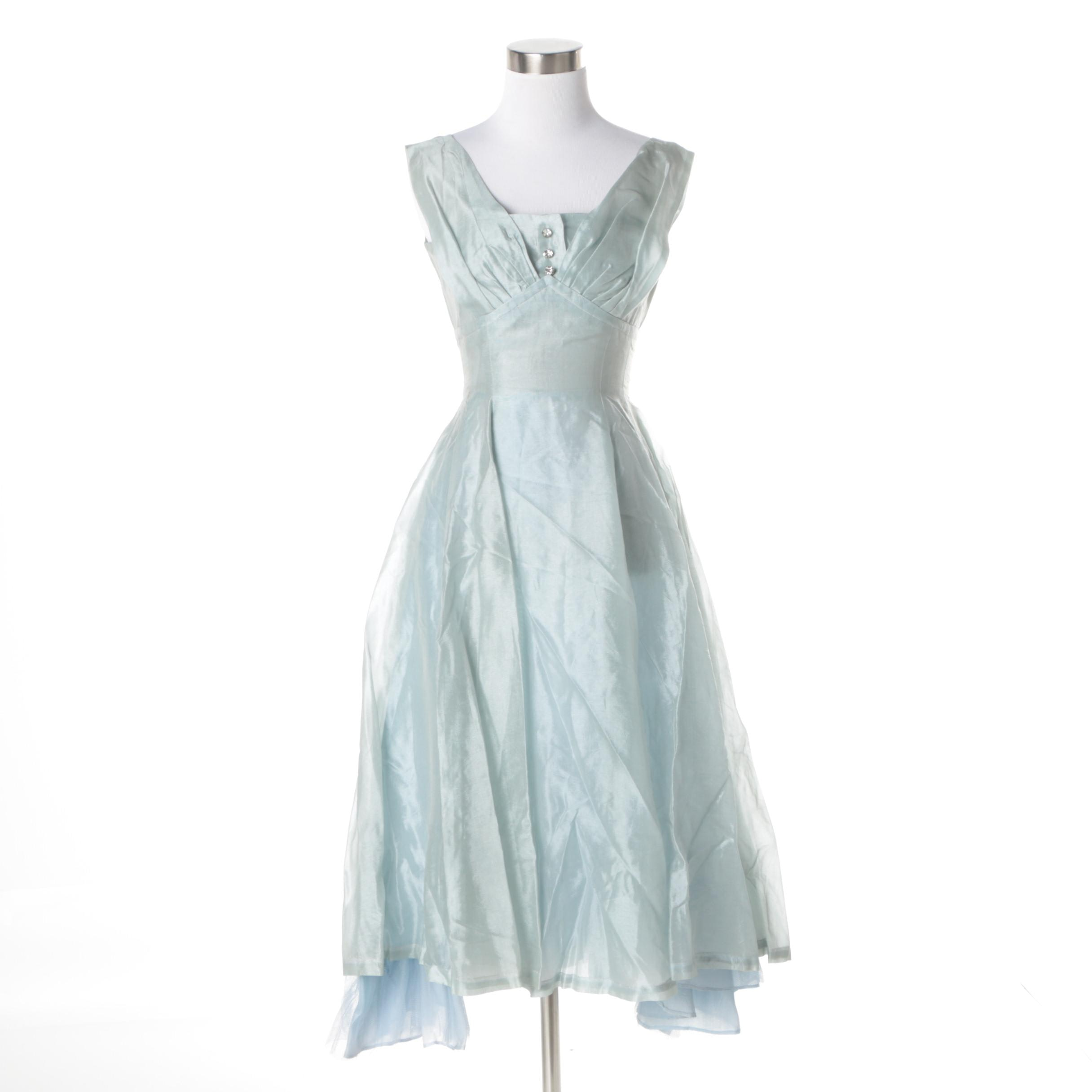 Circa 1950s Vintage Cocktail Dress