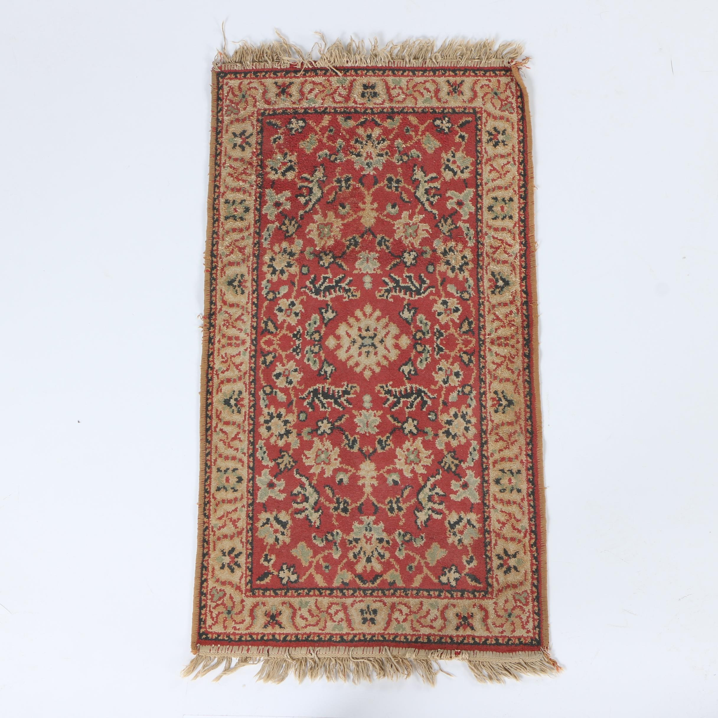 Power-Loomed Persian Style Wool Accent Rug