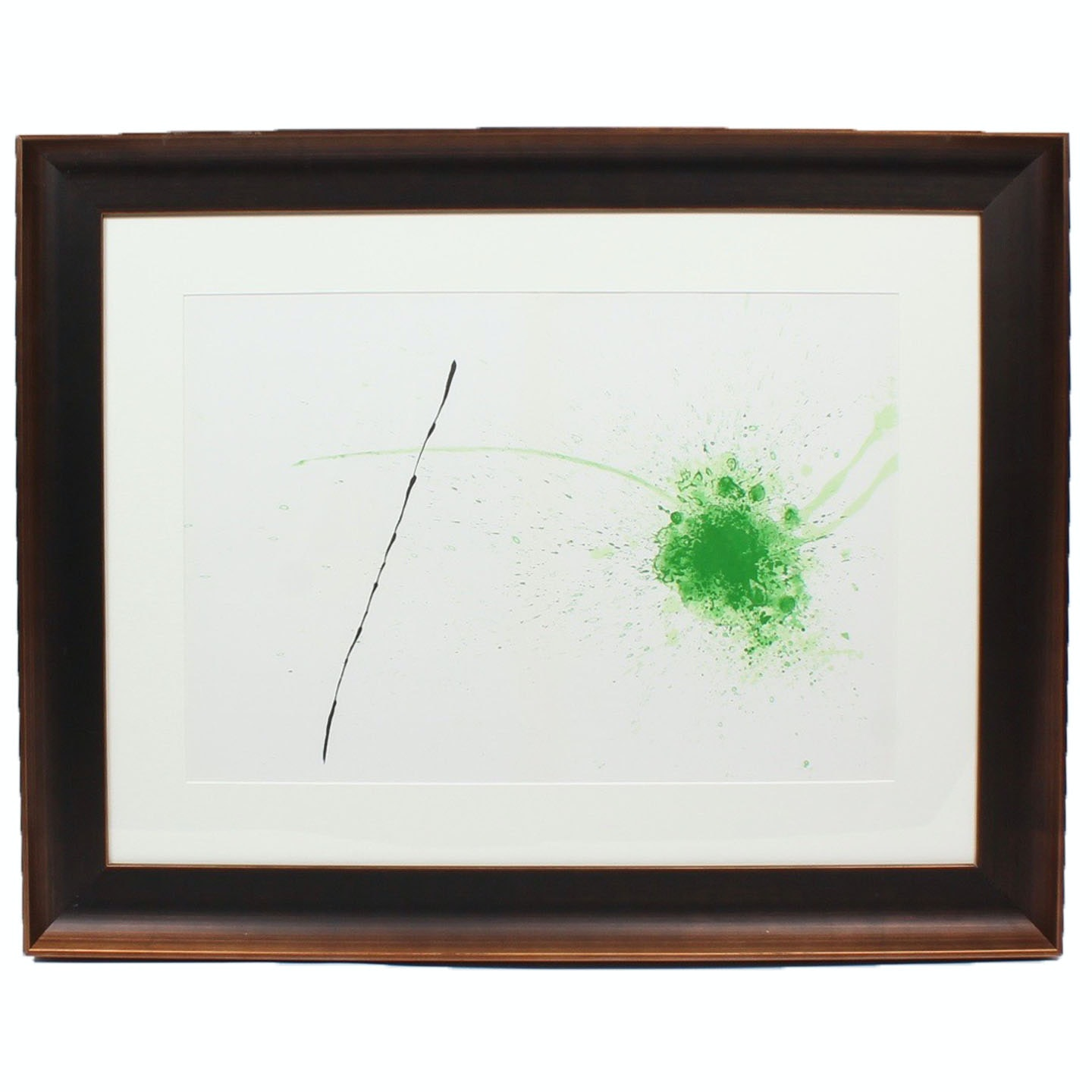 "Joan Miro 1971 Color Lithograph ""Vert"" for ""Derriere le Miroir"""