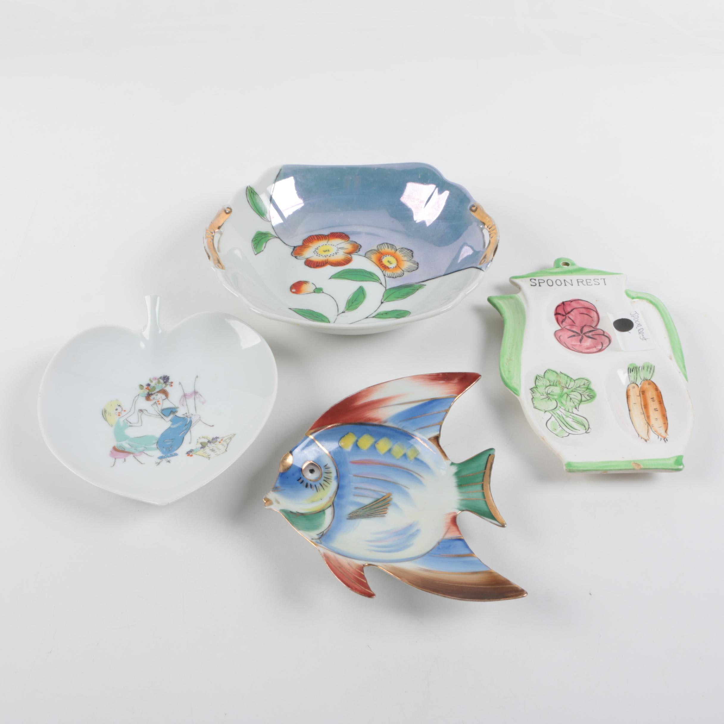 Hand-painted Porcelain Dishes