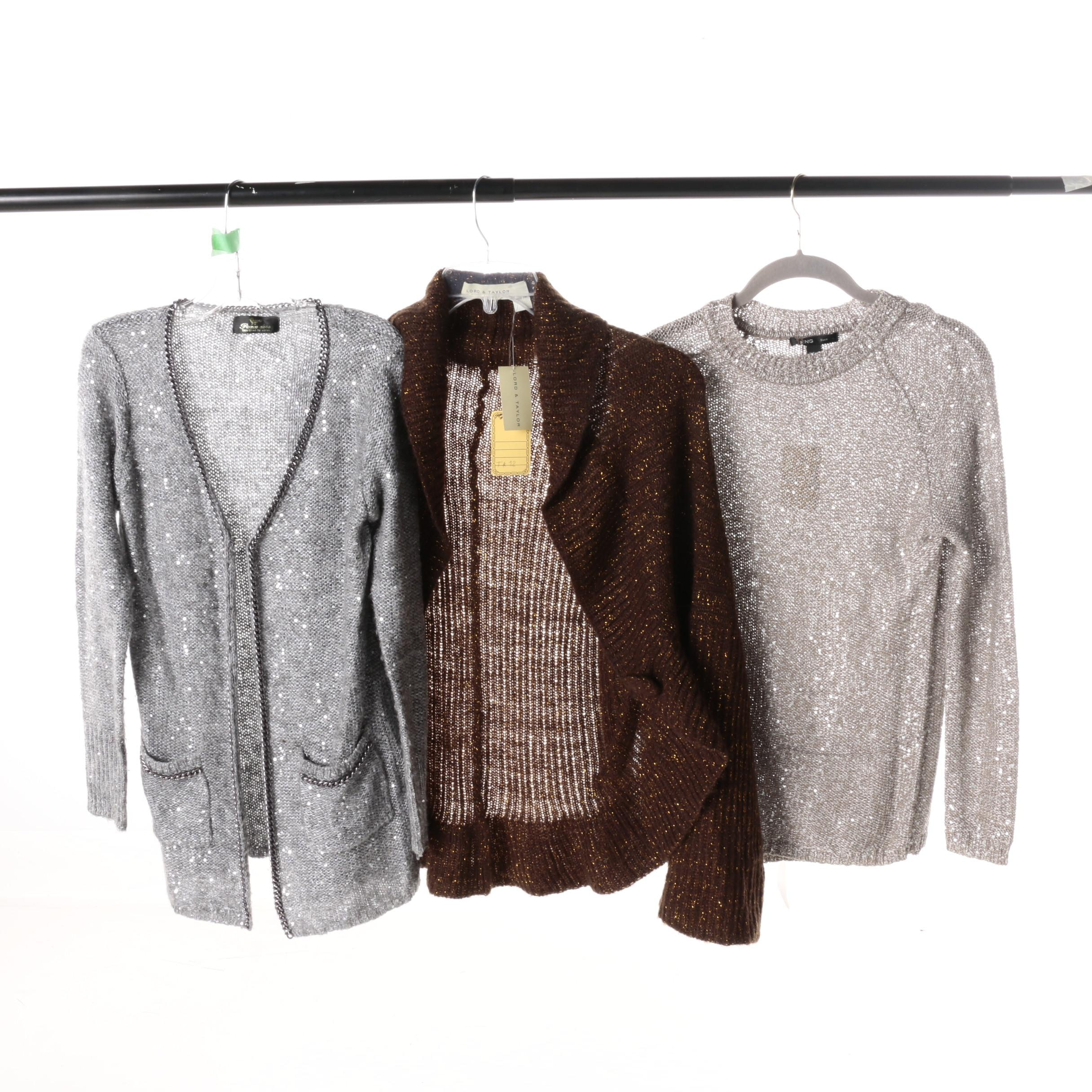 Women's Spangled Knit Sweaters