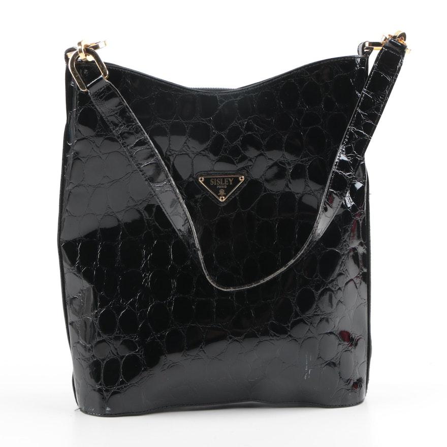 Sisley of Paris Black Patent Leather Shoulder Bag   EBTH 501b6252a24c0