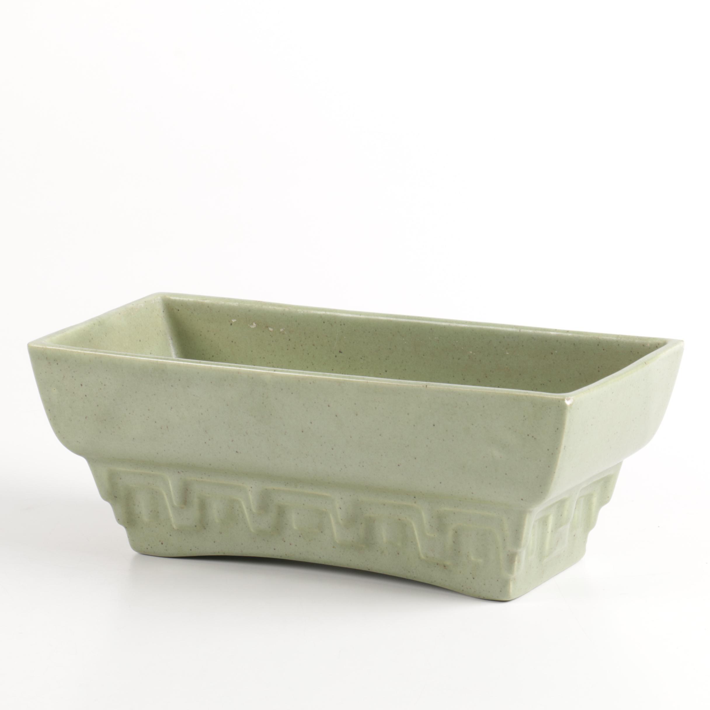 Haeger Green Ceramic Planter